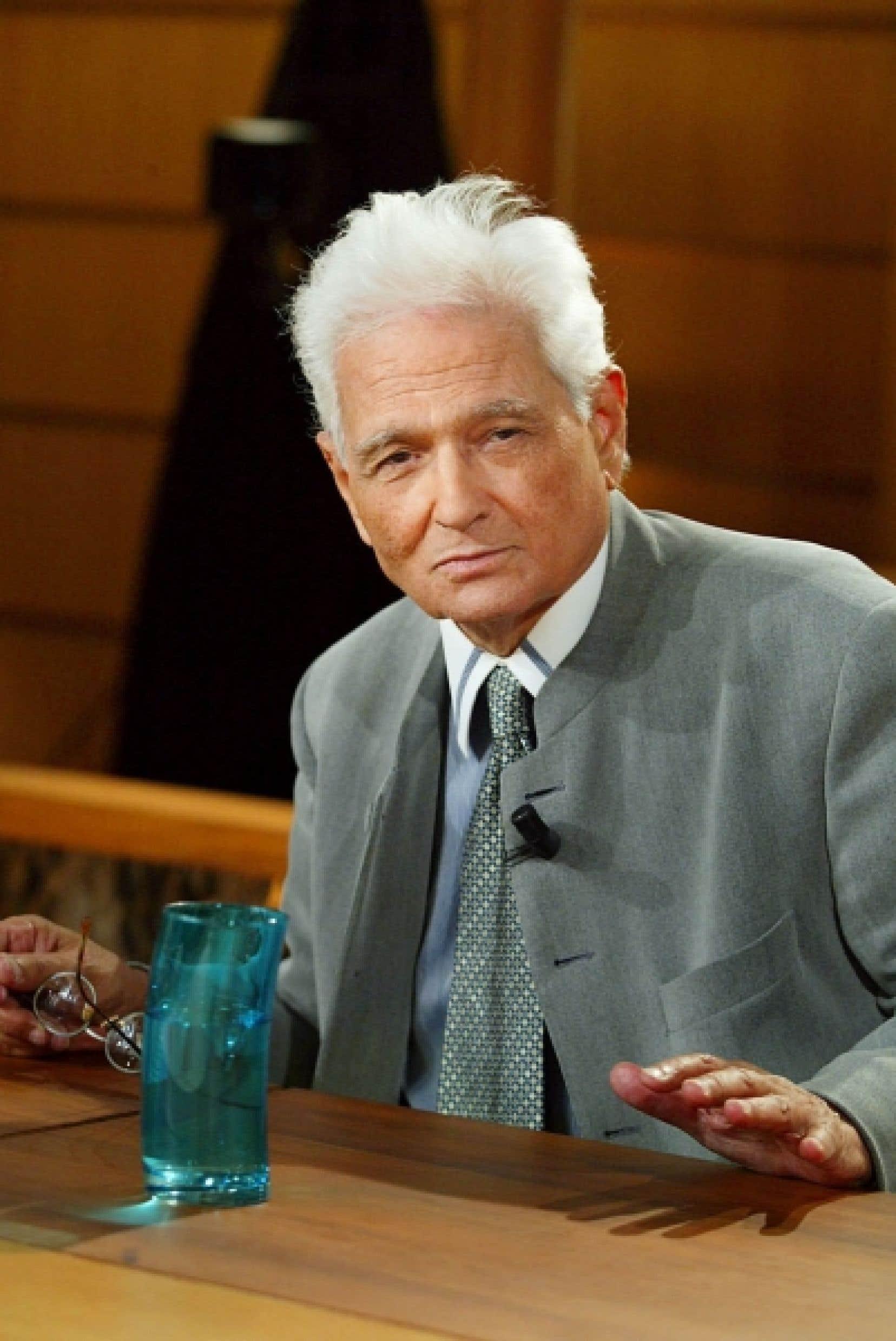 Le philosophe français Jacques Derrida (1930-2004)<br />