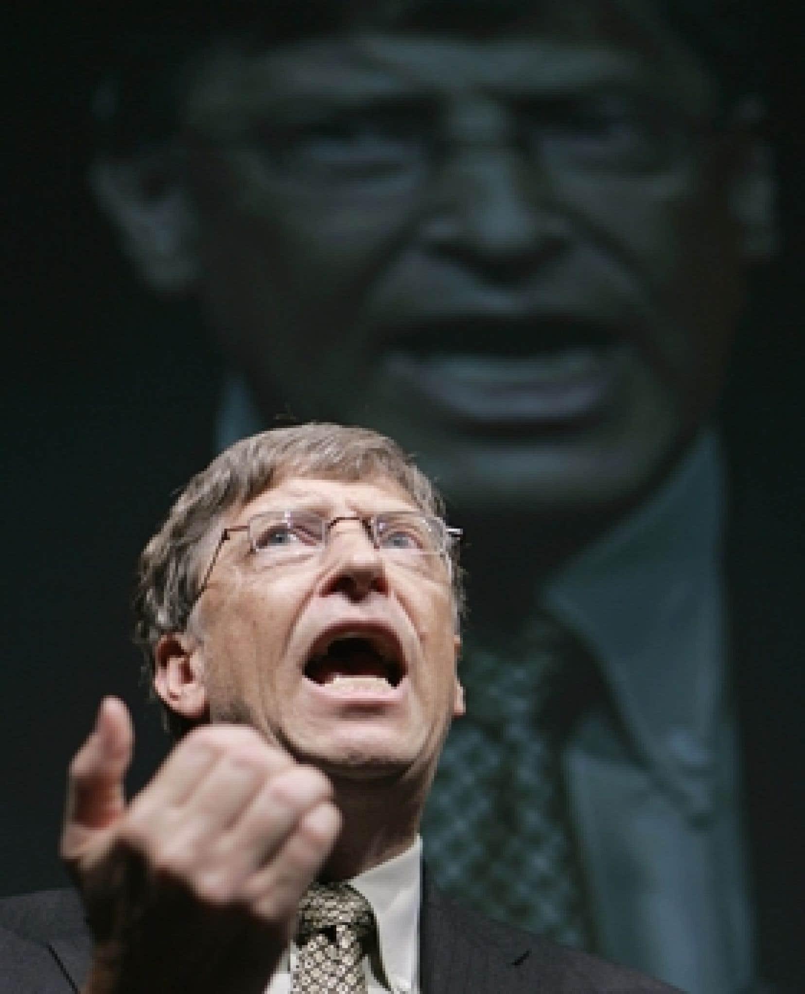 Bill Gates, fondateur de Microsoft, hier