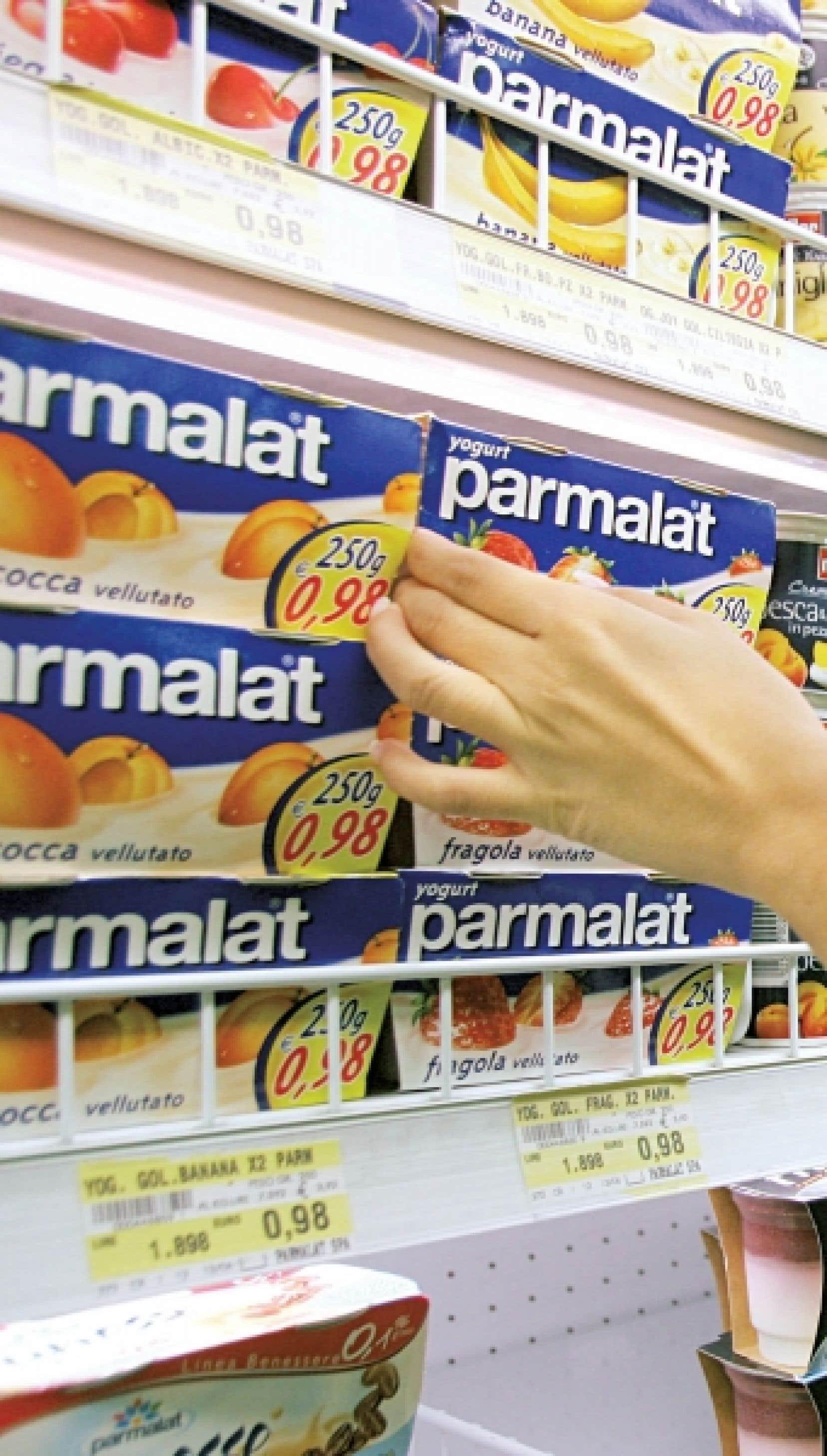 Lactalis offre 4,7 milliards $CAN pour acheter Parmalat.<br />