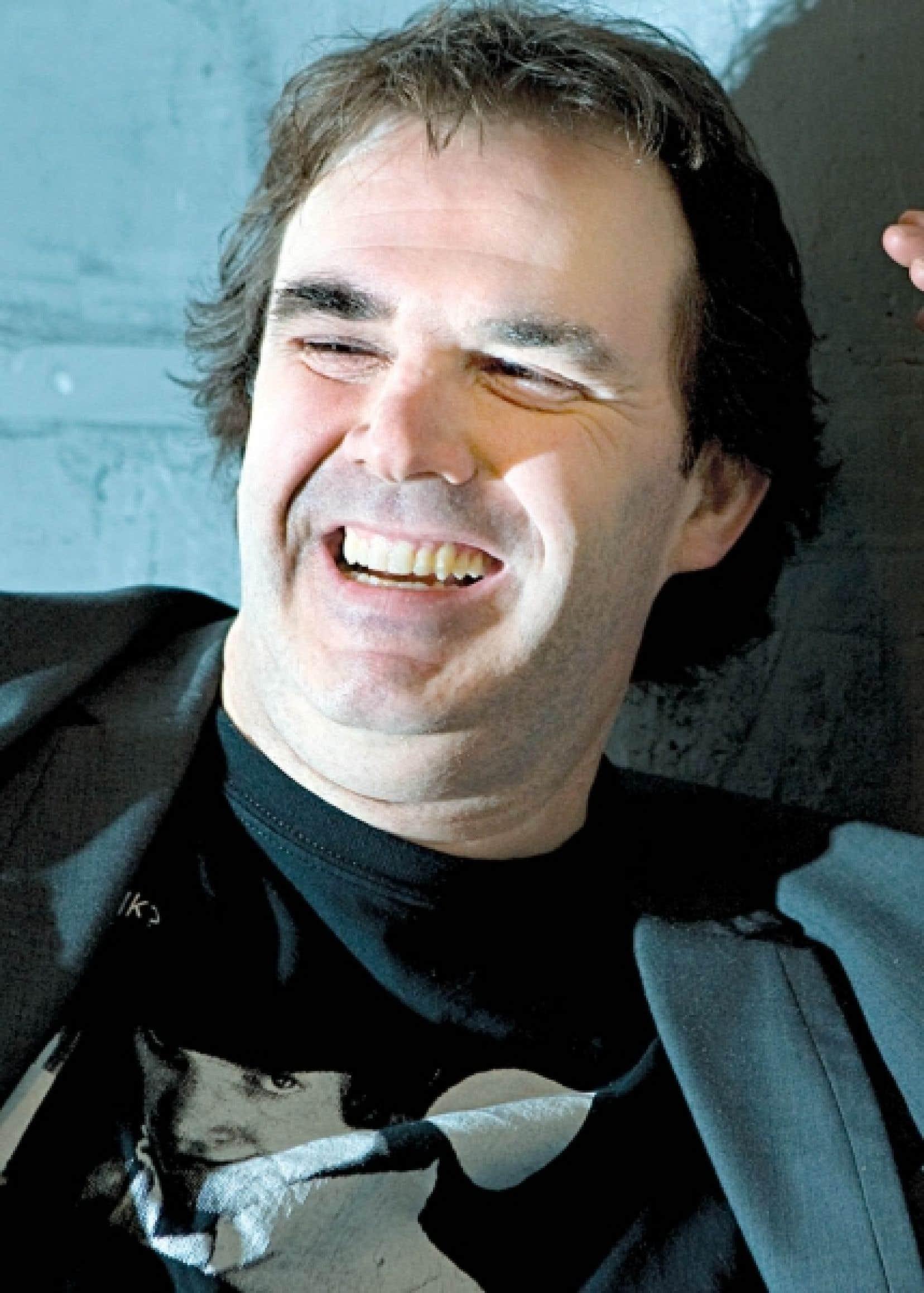 Patrick Sénécal, écrivain et réalisateur de quelques épisodes de la websérie La Reine rouge. <br />