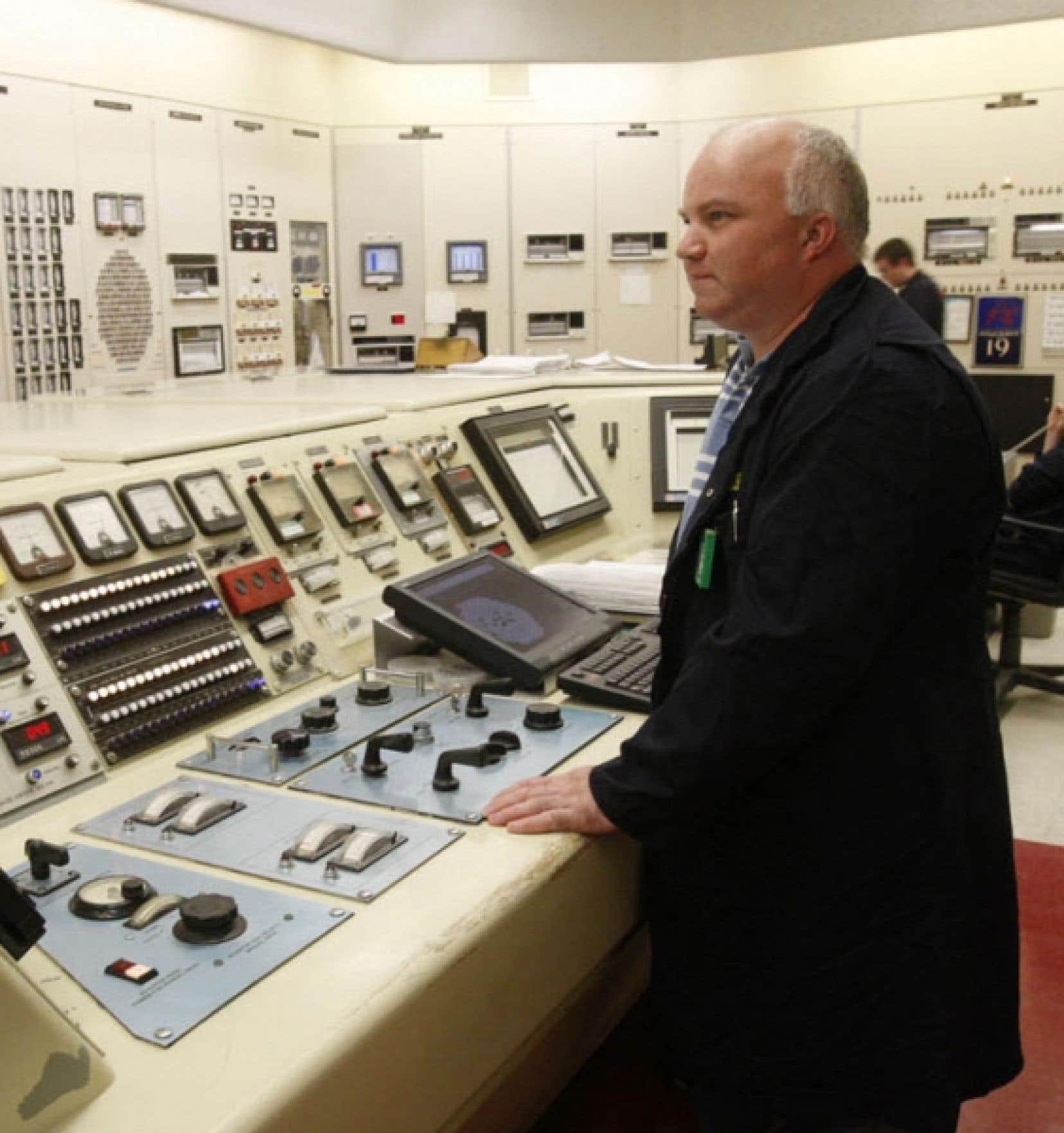 La salle de contrôle de la centrale de Chalk River<br />