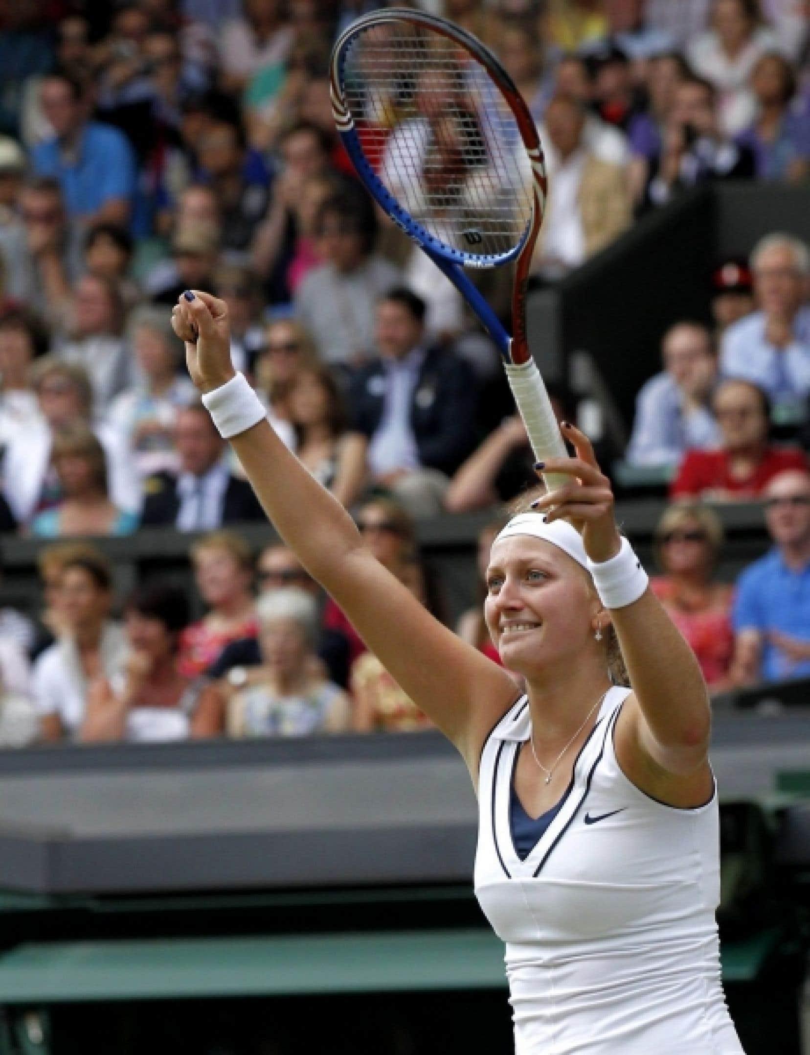 Petra Kvitova a remporté son premier titre du Grand chelem aujourd'hui.