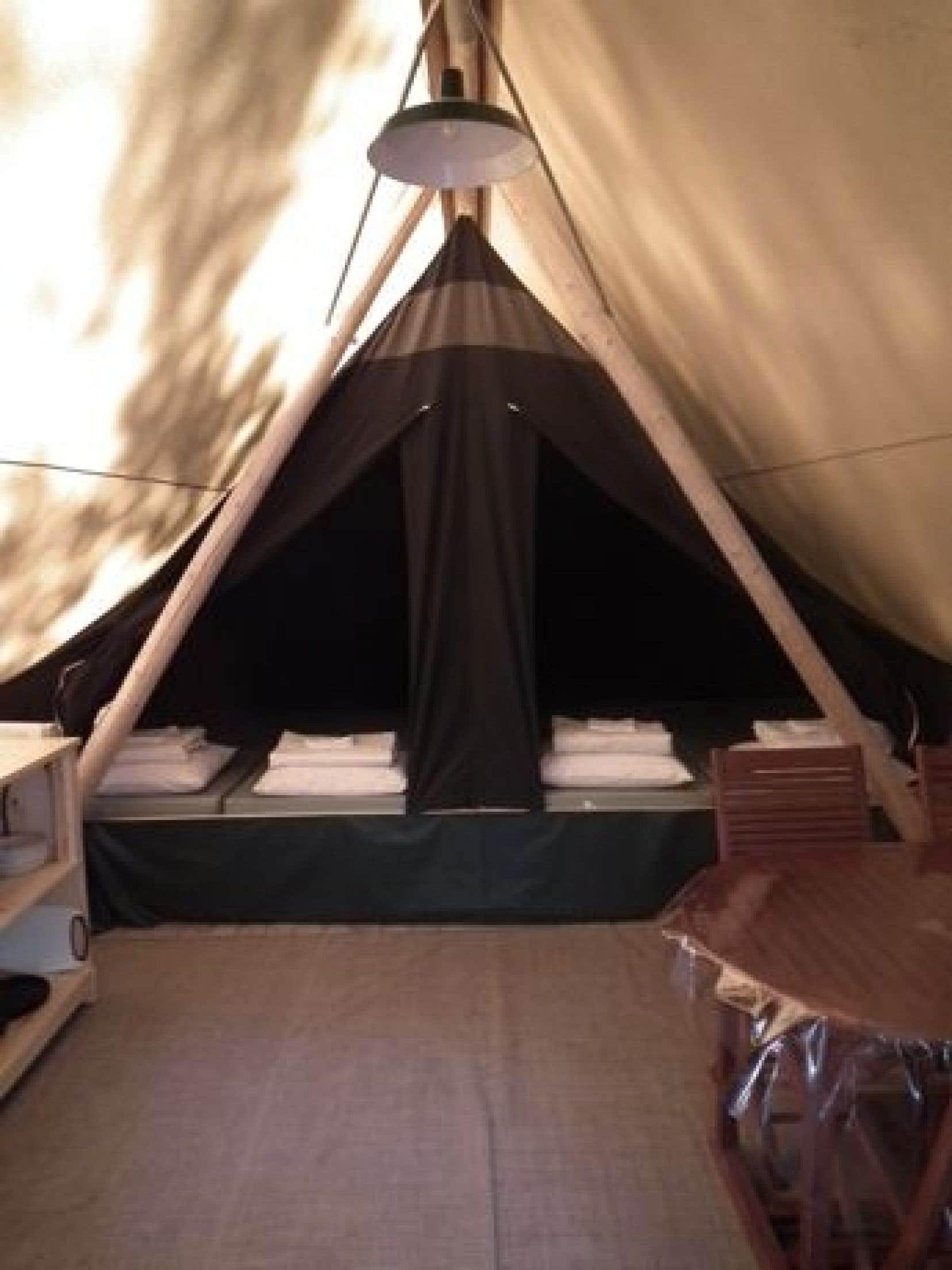 Tente Huttopia adaptée<br />
