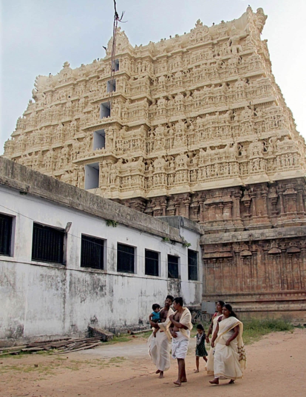 Le temple de Sree Padmanabhaswamy, à Trivandrum, capitale de l'État du Kerala. Les trésors découverts sont des offrandes des fidèles au temple, mais on en ignorait la quantité et la valeur jusqu'à ce que cet inventaire soit lancé.<br />