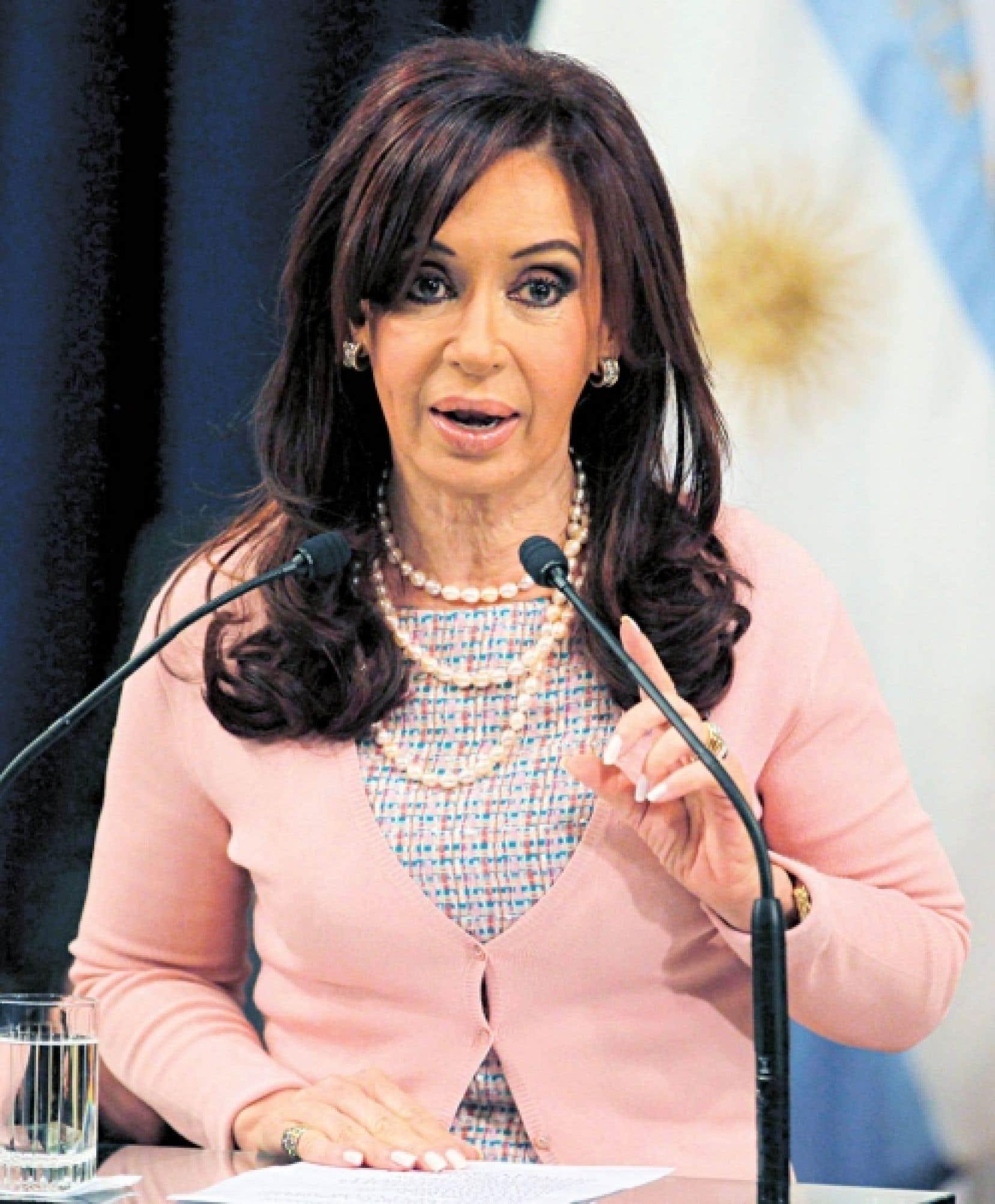 Cristina Kirchner, présidente de l'Argentine<br />