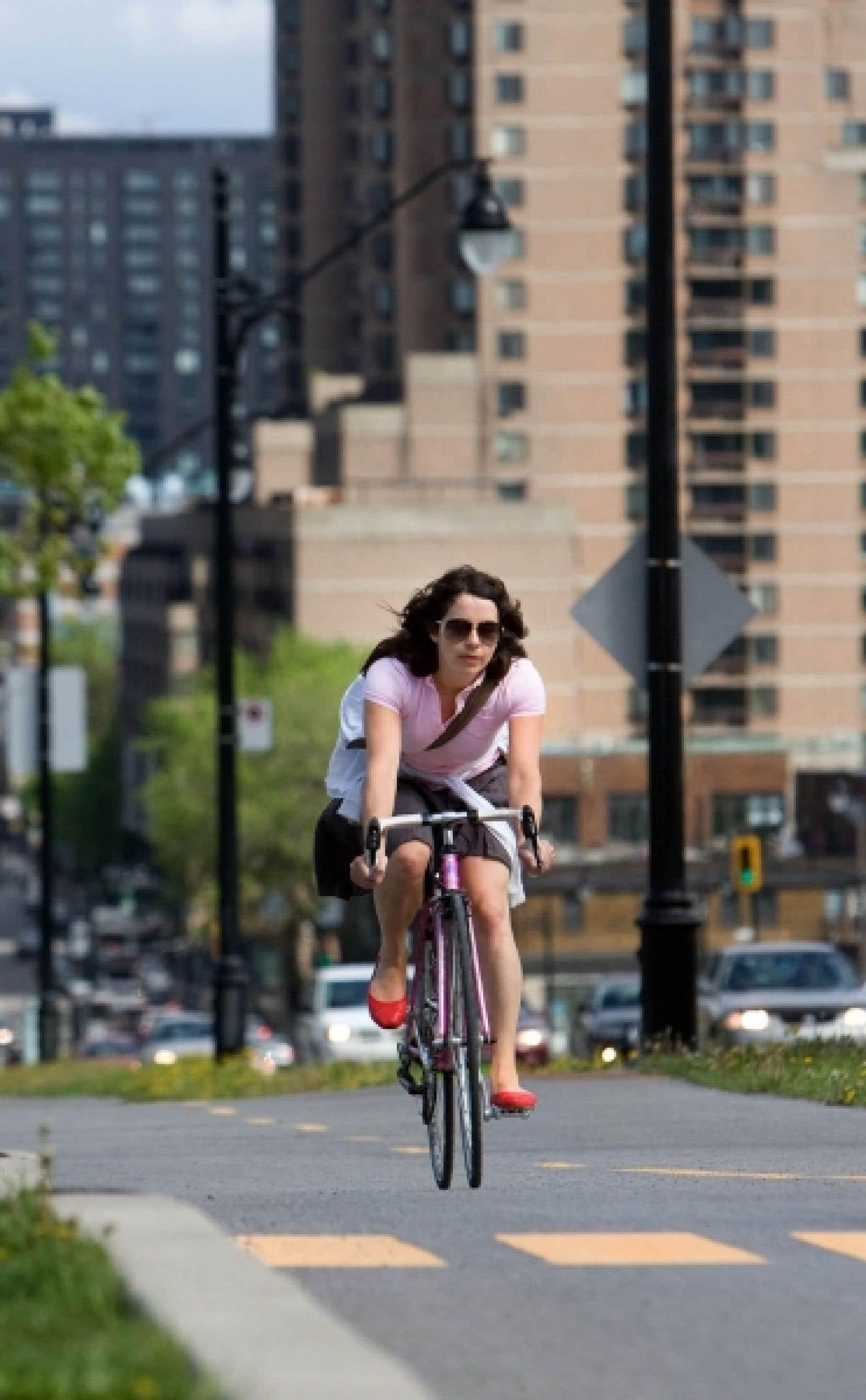 Plus de la moitié des adultes montréalais font du vélo.