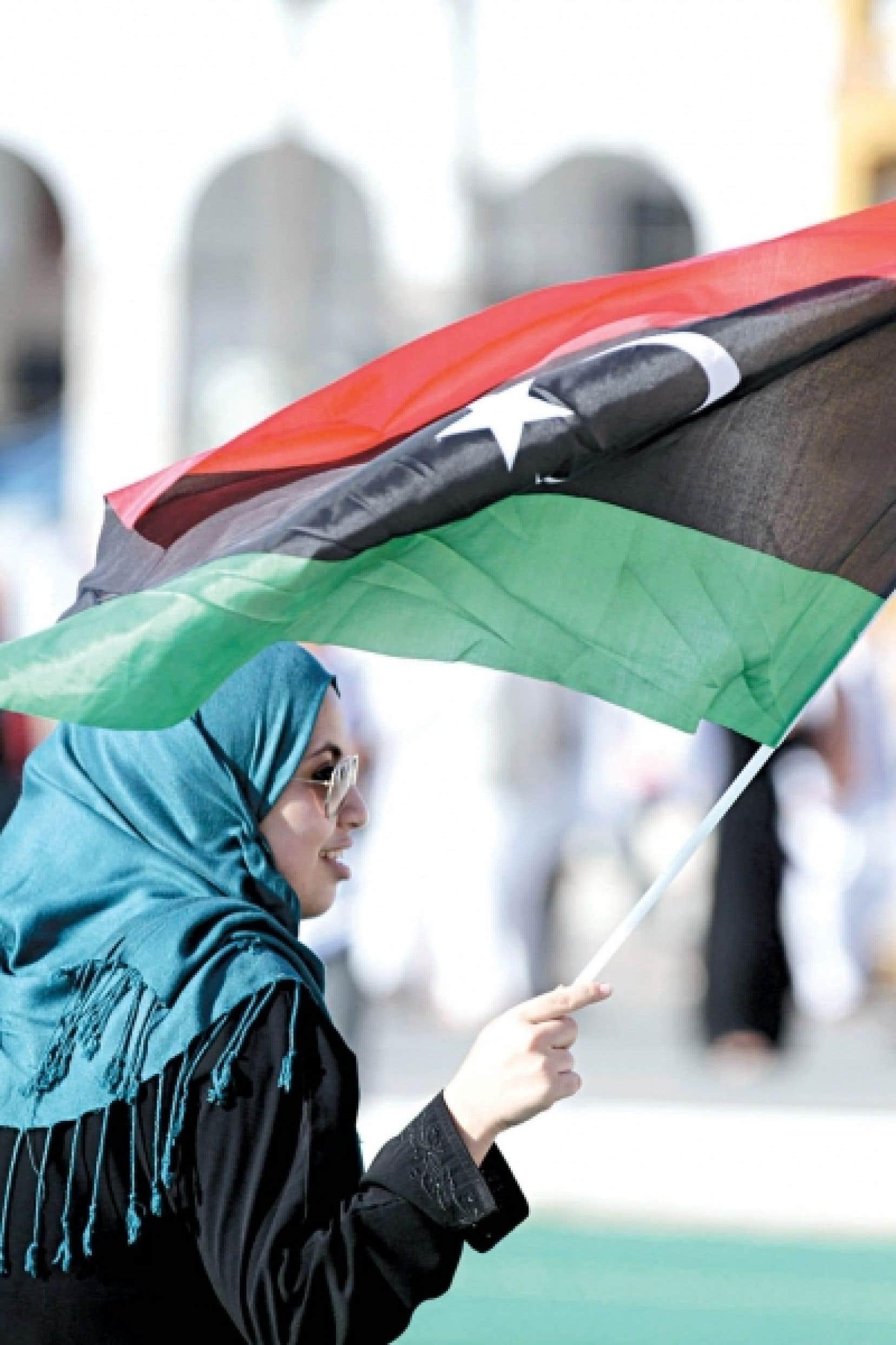 Une Libyenne fière des changements en cours dans son pays.<br />
