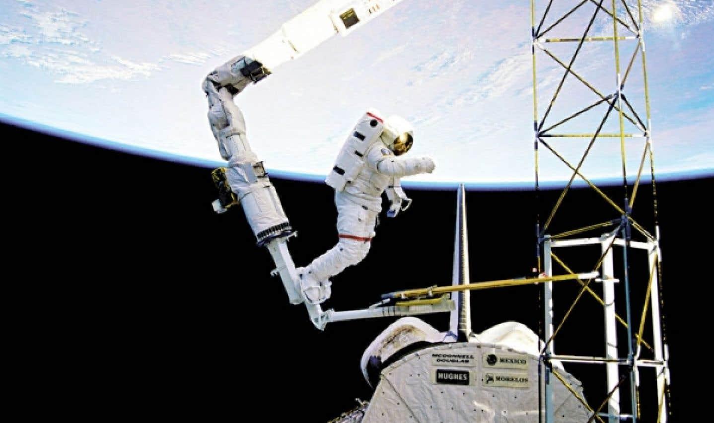 Un des deux types de robots pour lesquels excelle le Canada: le bras spatial Canadarm