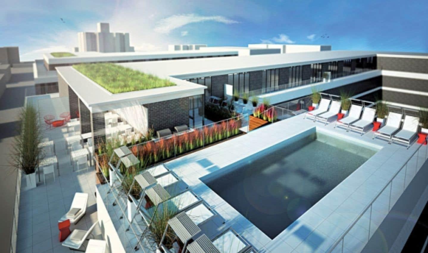 Outre ces clins d'œil lancés au 7e art, l'ensemble du projet facilitera à terme la convivialité entre les occupants, avec l'ajout d'un toit-terrasse et d'une piscine.