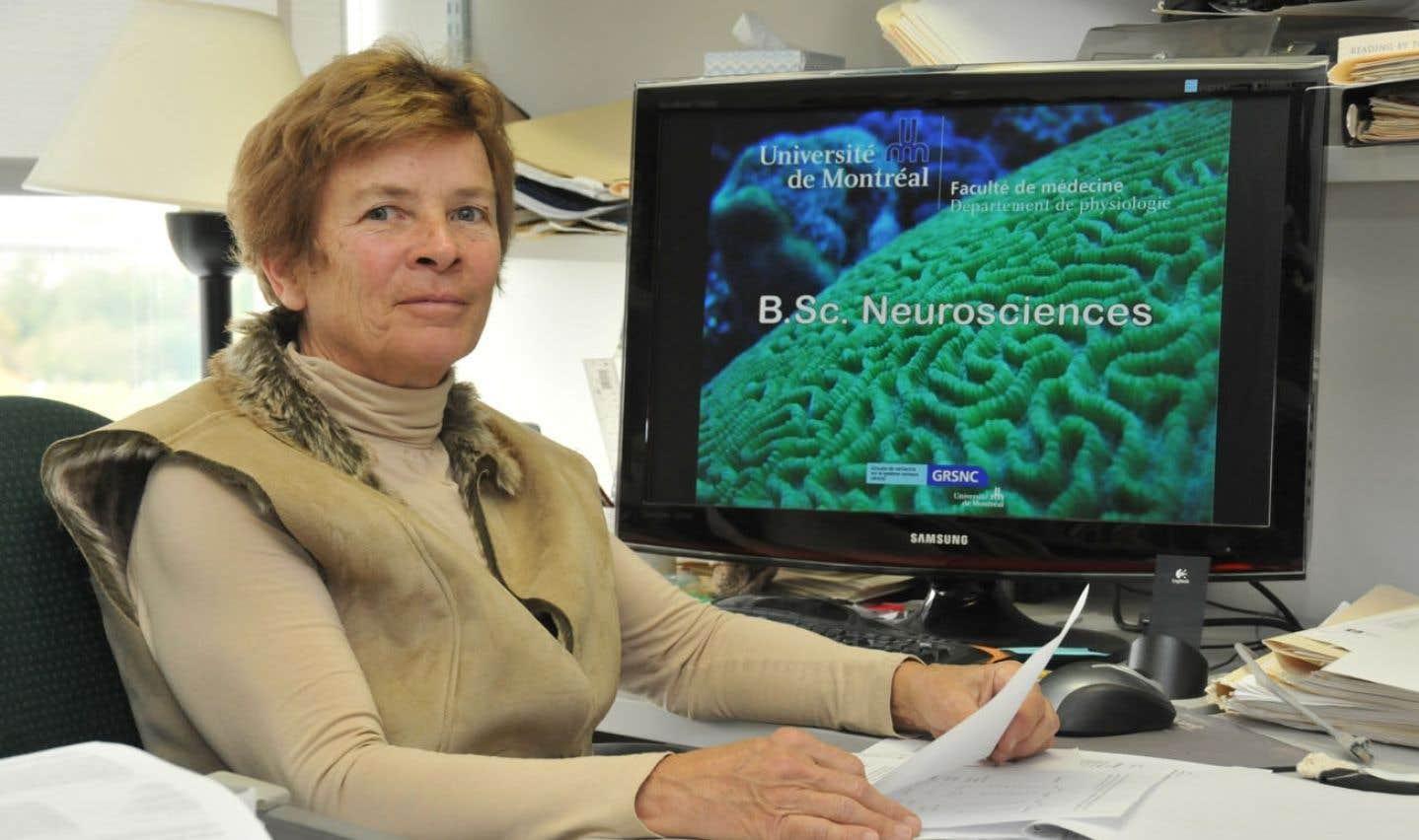 Elaine Chapman est professeure au département de physiologie et directrice du nouveau baccalauréat en neurosciences de l'UdM.