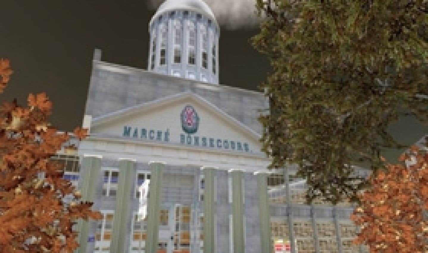 Une représentation du marché Bonsecours telle qu'elle apparaîtra sur l'Île Québec.