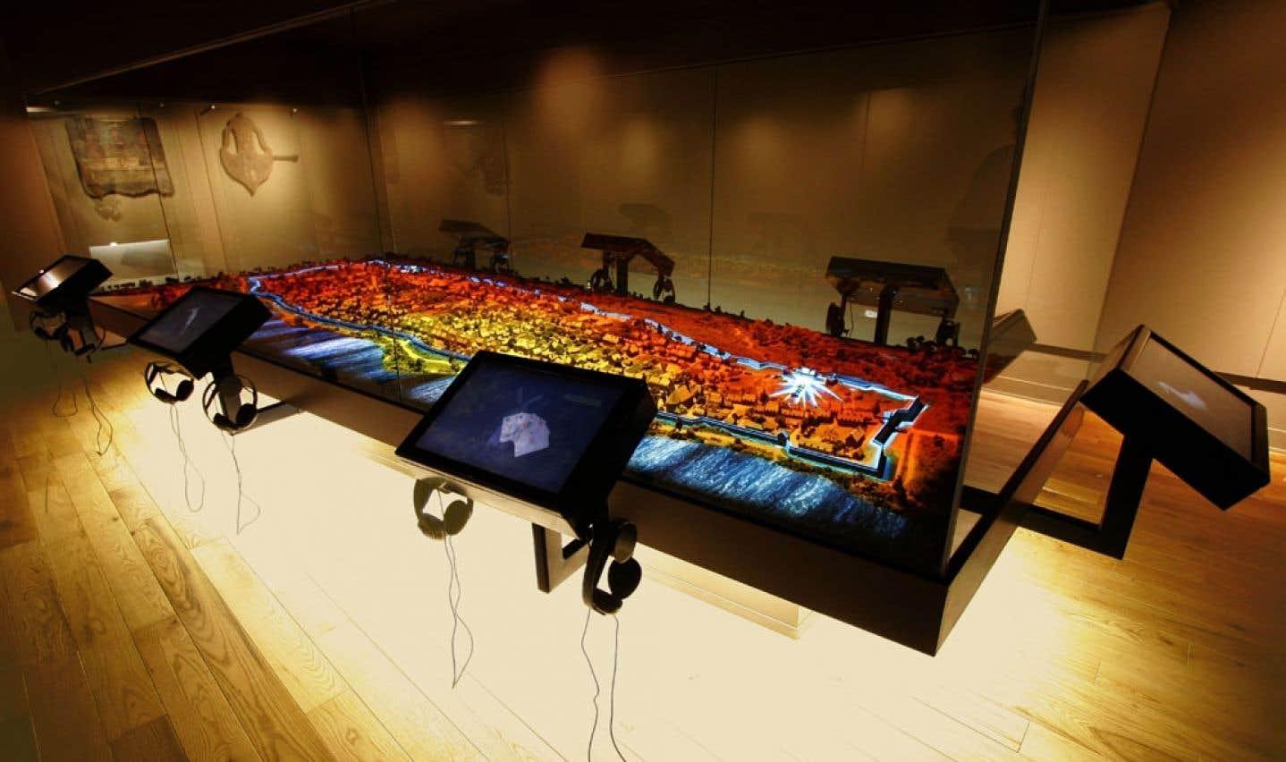 Une maquette interactive de Montréal est devenue la pièce de résistance de l'exposition permanente du Musée Stewart.