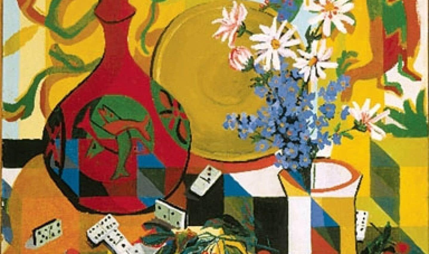 Une partie de Fleurs et dominos, une œuvre d'Alfred Pellan. L'artiste sera l'objet d'une exposition temporaire cet été.