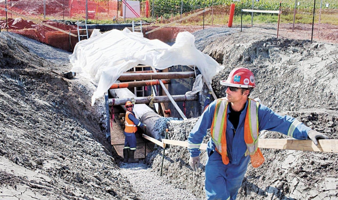 Inversion du pipeline - Le pire n'arrivera «probablement» pas, dit la pétrolière Enbridge