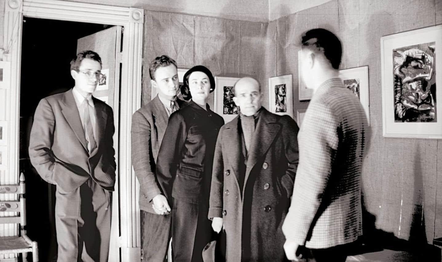 À la seconde exposition des automatistes se sont retrouvés Marcel Barbeau, Pierre Gauvreau, Madeleine Arbour, Paul-Émile Borduas et Claude Gauvreau, des artistes qui avaient établi leur atelier dans le Plateau.