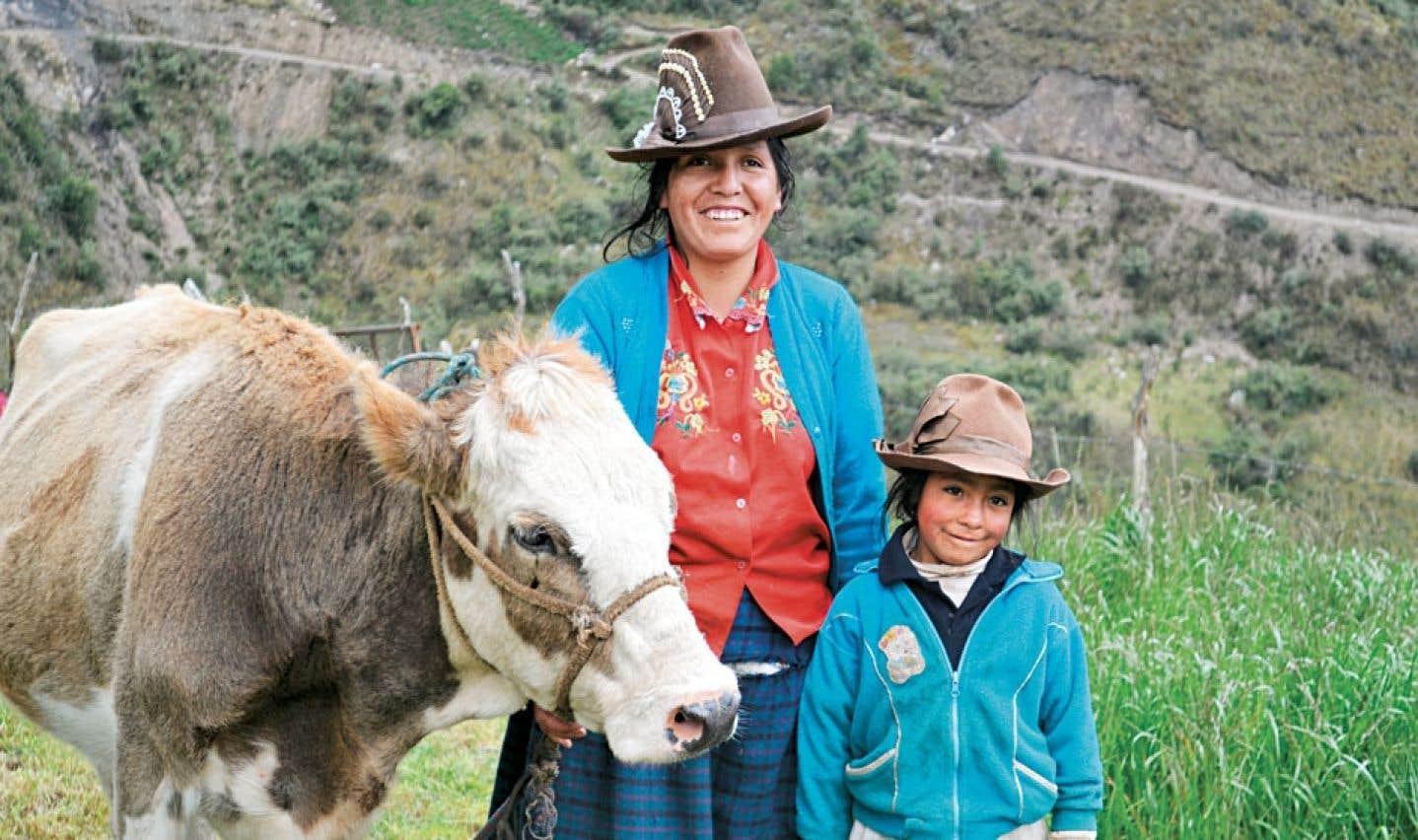 Ocshapampa, au Pérou. L'organisme SUCO y œuvre dans le domaine de l'élevage et de l'agriculture.