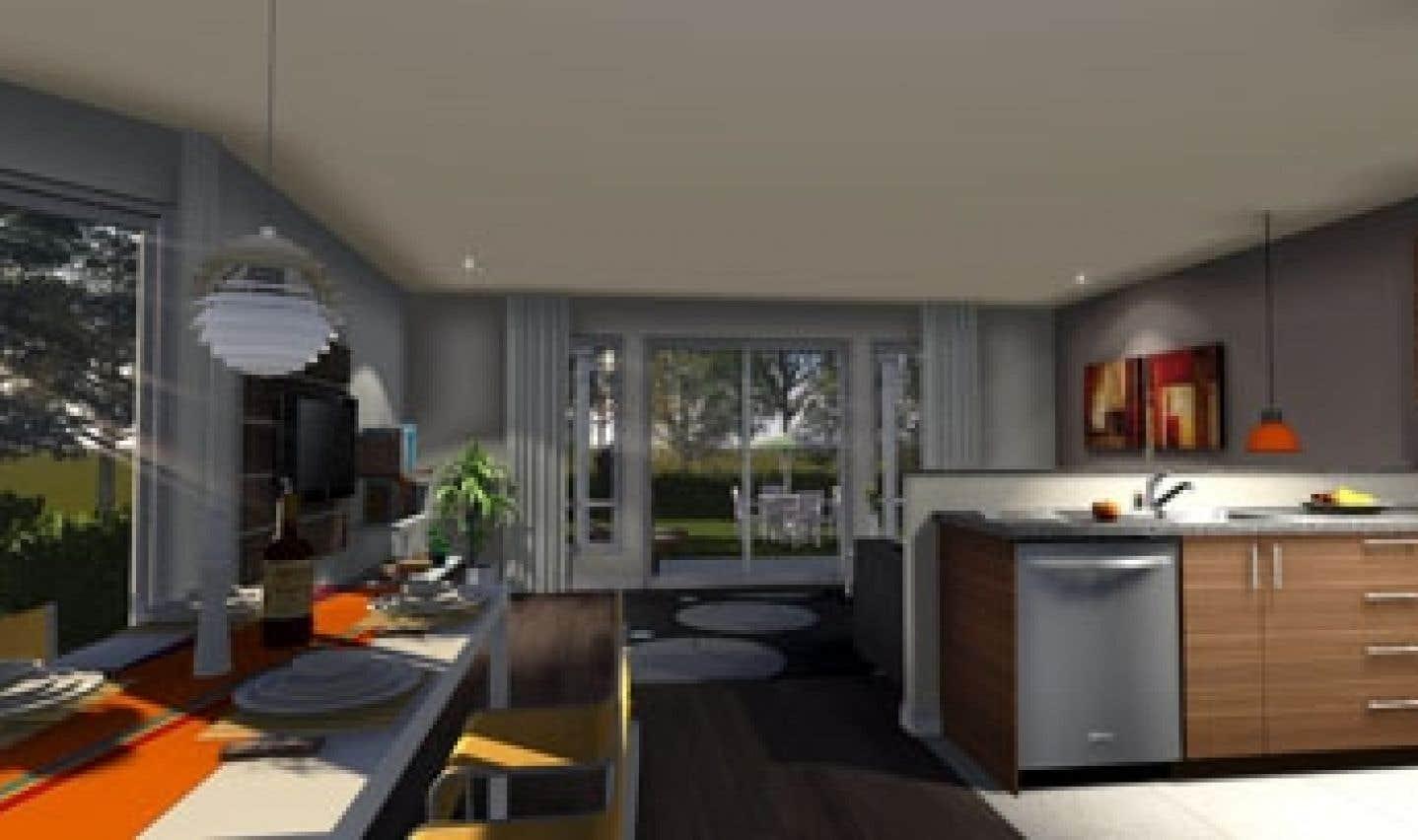 Tous les logements du projet Chambly-sur-le-golf sont à aire ouverte.