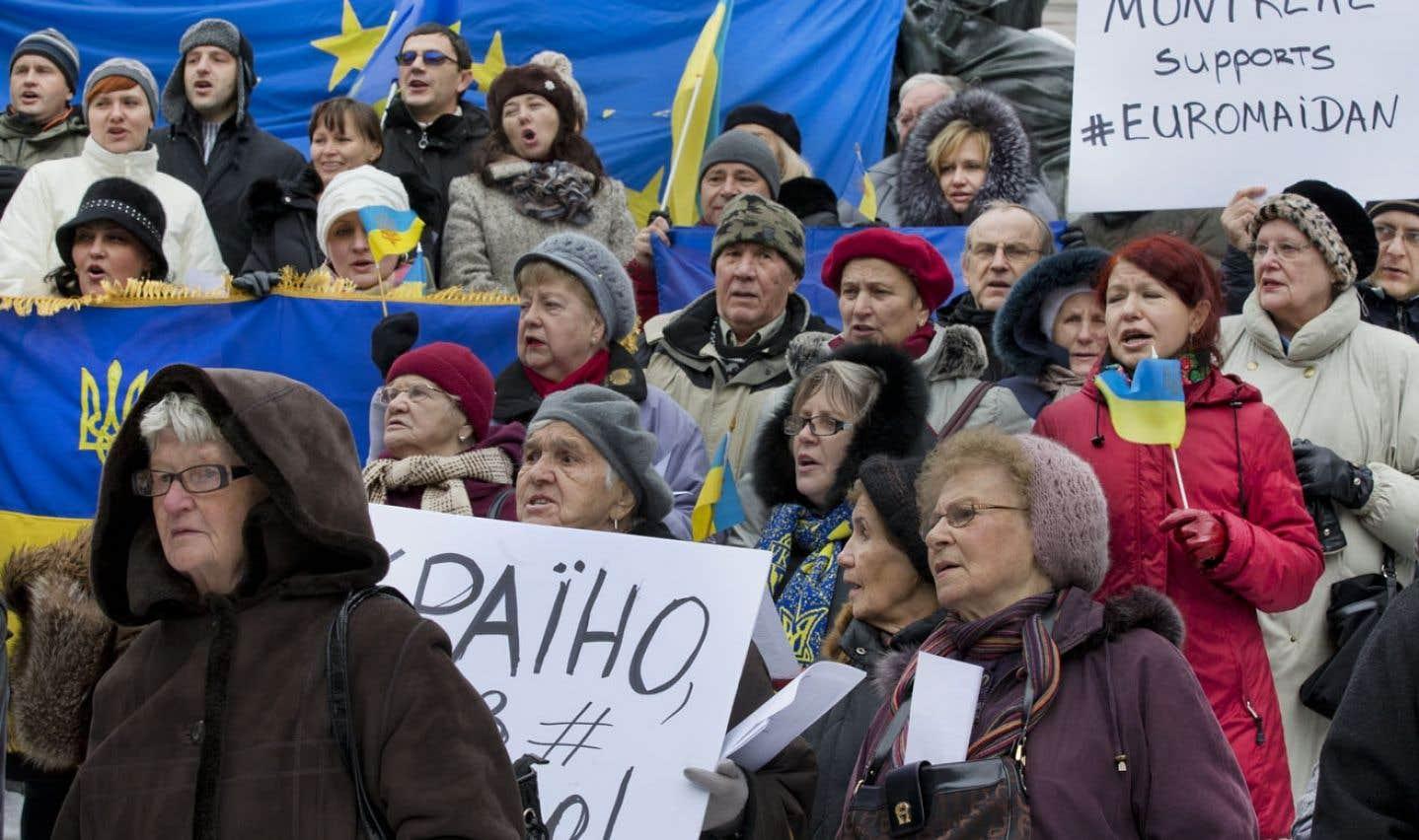 La communauté ukrainienne de Montréal solidaire - La colère des Ukrainiens prend de l'ampleur