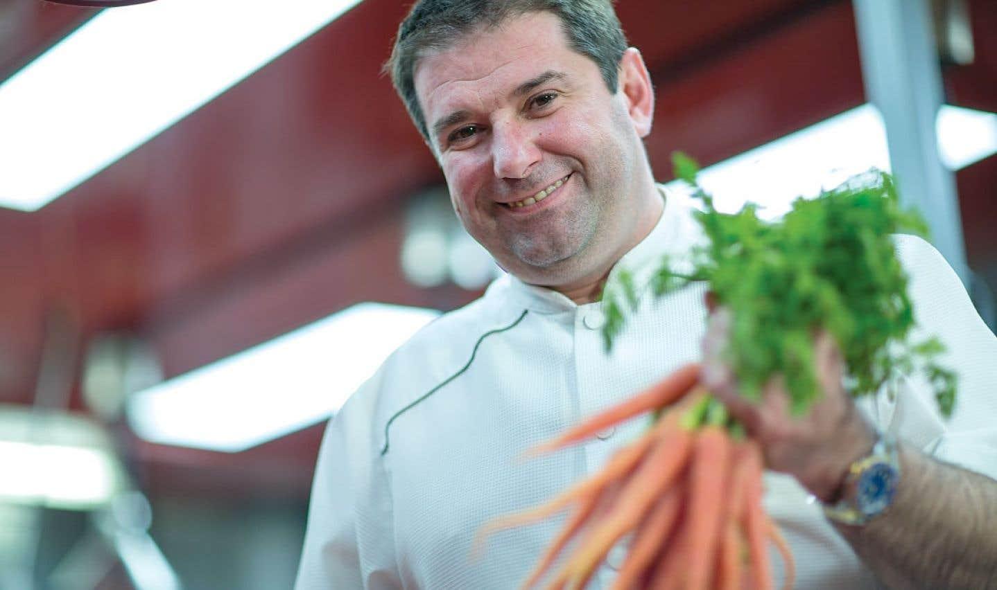 Le chef Jérôme Ferrer croit qu'il ne faut jamais lésiner sur la qualité des aliments.