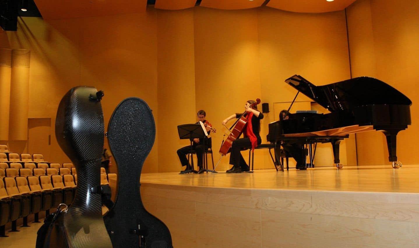 Les heureux élus qui accèdent aux conservatoires de musique du Québec (comme celui de Montréal sur notre photo) y trouvent une formation rigoureuse, personnalisée, soucieuse du rythme d'apprentissage de chacun.