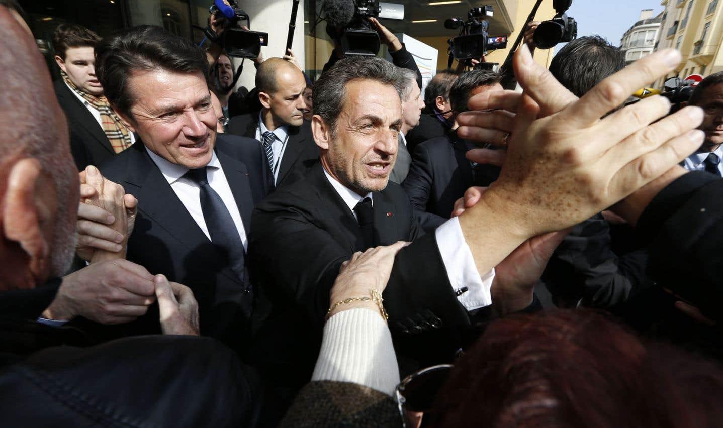 L'ancien président lors de l'inauguration de l'Institut Claude-Pompidou à Nice