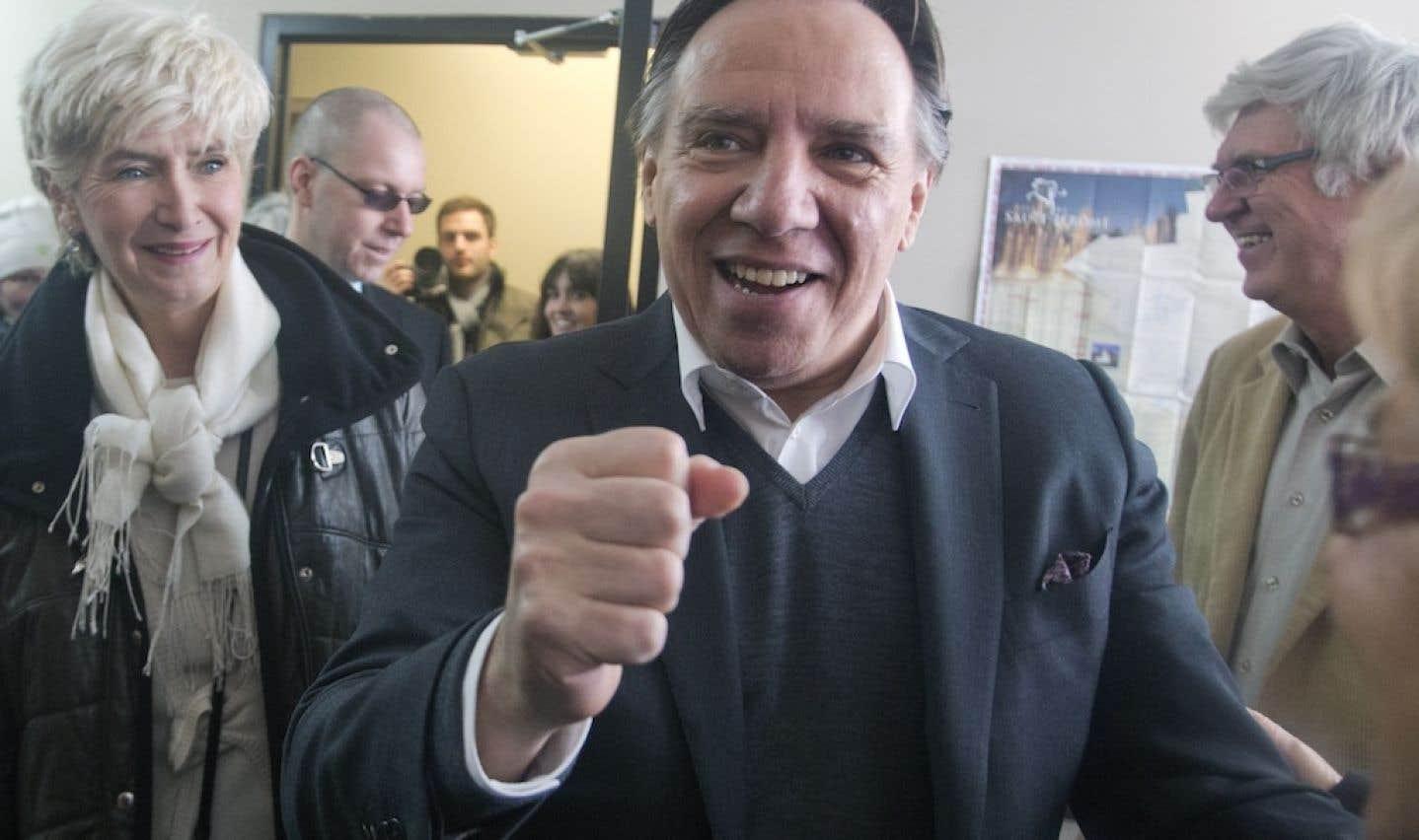 François Legault en campagne électorale il y a quelques jours.