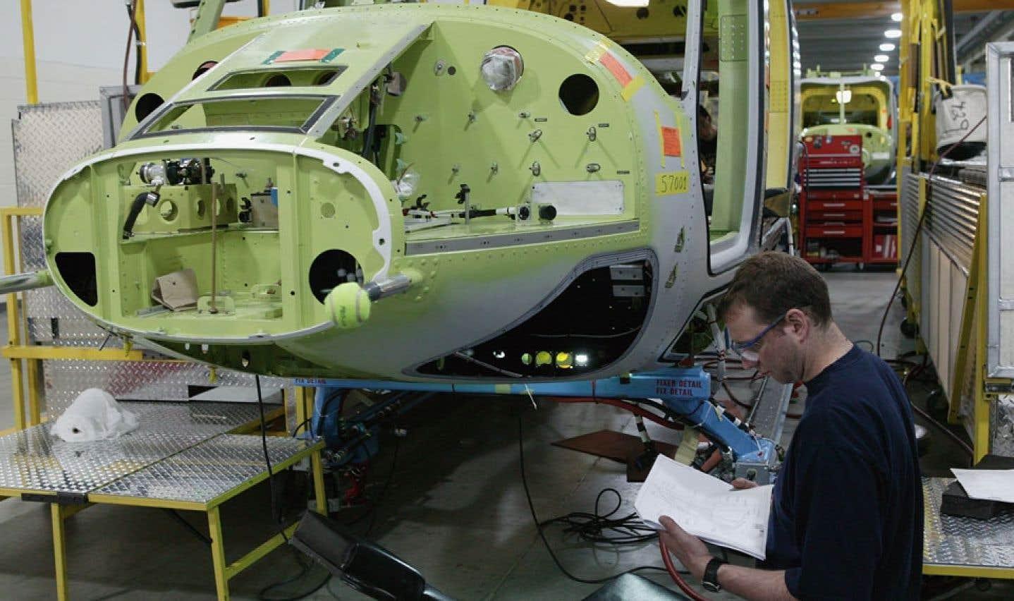 L'usine d'assemblage de Bell Helicopter à Mirabel