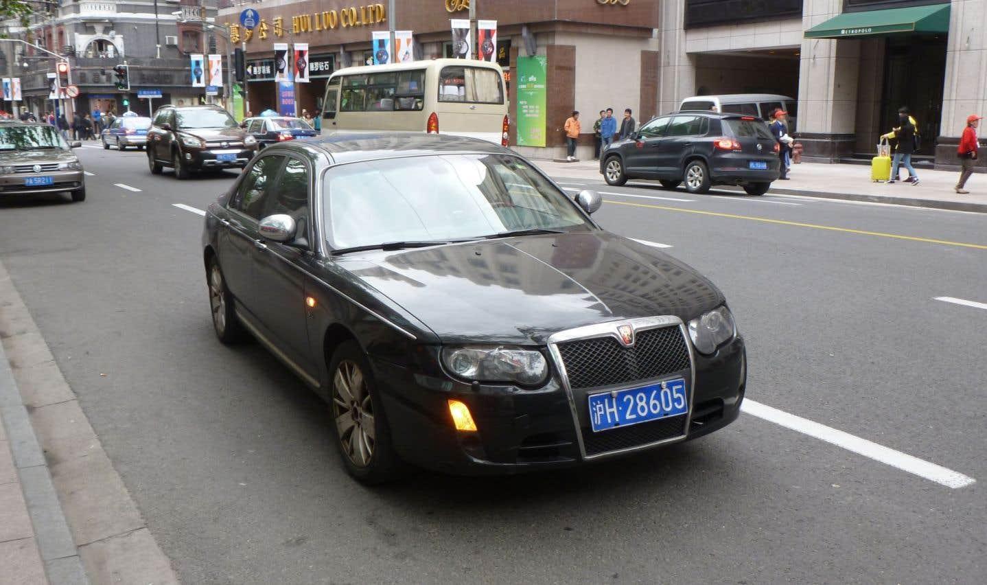 Roewe est l'une des marques de SAIC (Shanghai Automotive Industry Corporation), premier constructeur chinois. Les connaisseurs auront reconnu l'ancienne Rover 75.