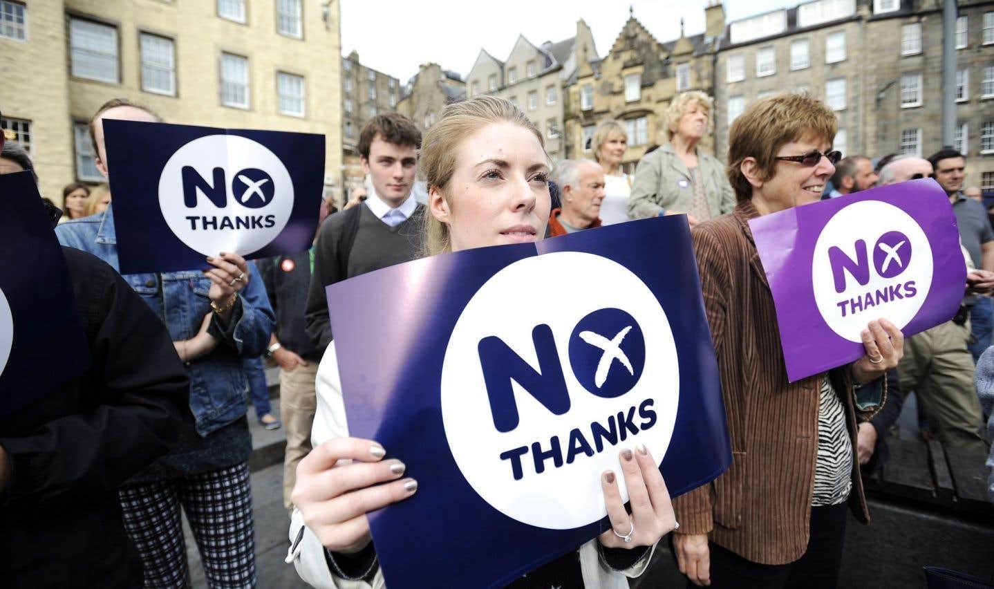 La campagne de Better Together, les partisans du camp du Non dans le référendum en Écosse, s'appuie largement sur l'idée du désastre potentiel: qu'arrivera-t-il à nos emplois? Qu'arrivera-t-il au sujet de l'accès aux universités britanniques?