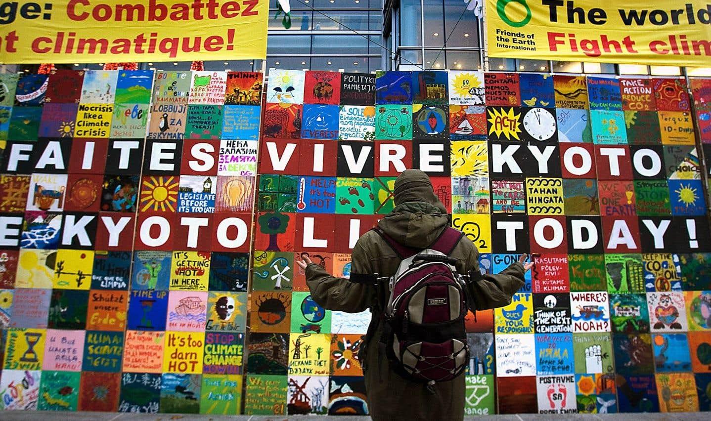 Les pays contraints par le protocole de Kyoto auraient atteint collectivement leurs cibles, en grande partie en raison des changements structurels de leur économie.