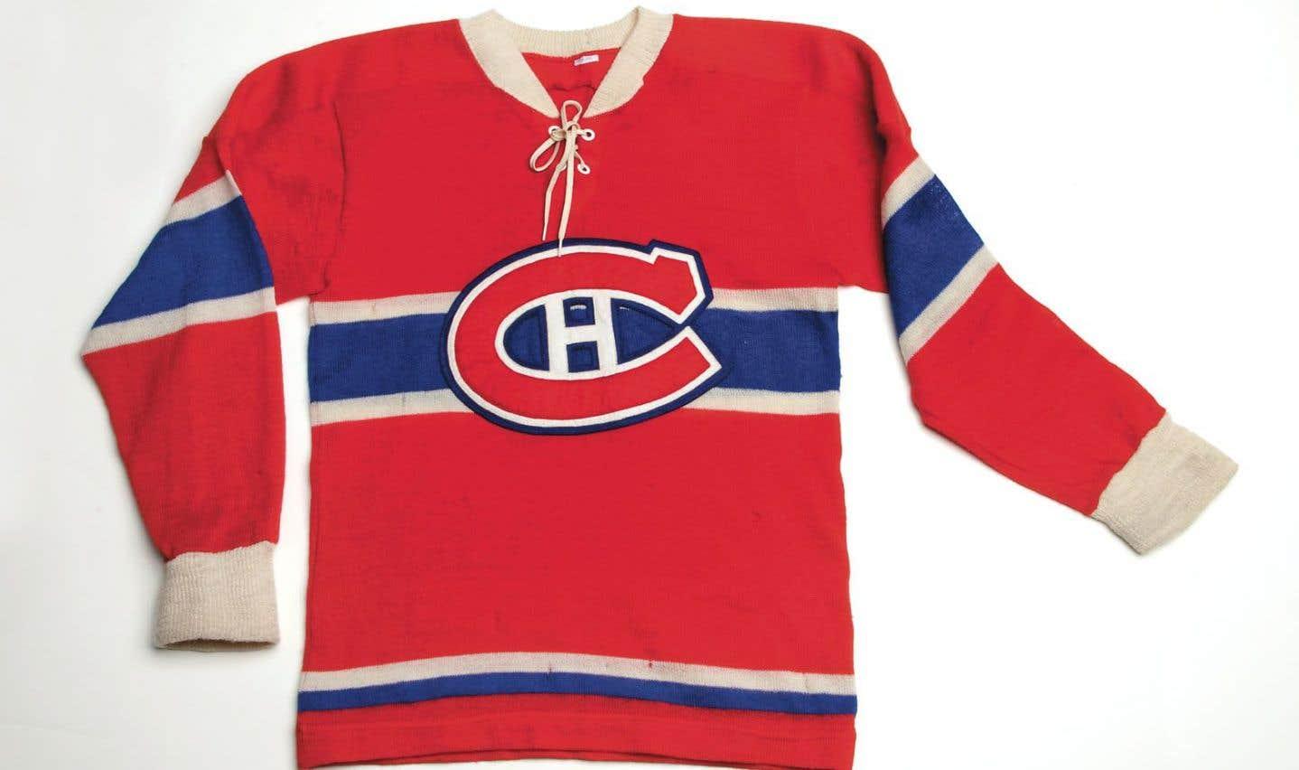 Chandail de hockey, 1943-1953, don de la succession de Maurice Richard