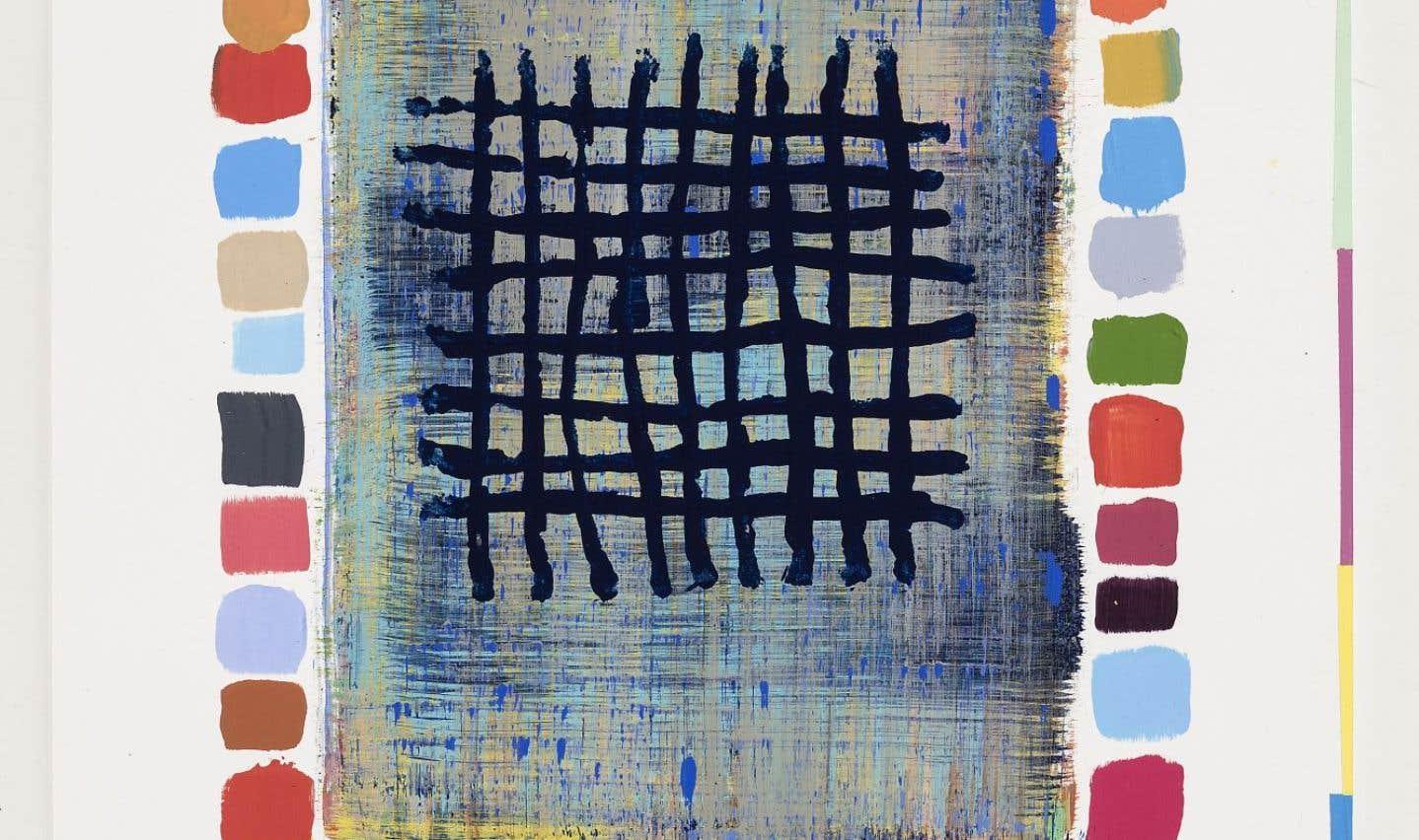 Œuvre réalisée par Mario Côté en 2014, intitulée Restes et Cluster 15