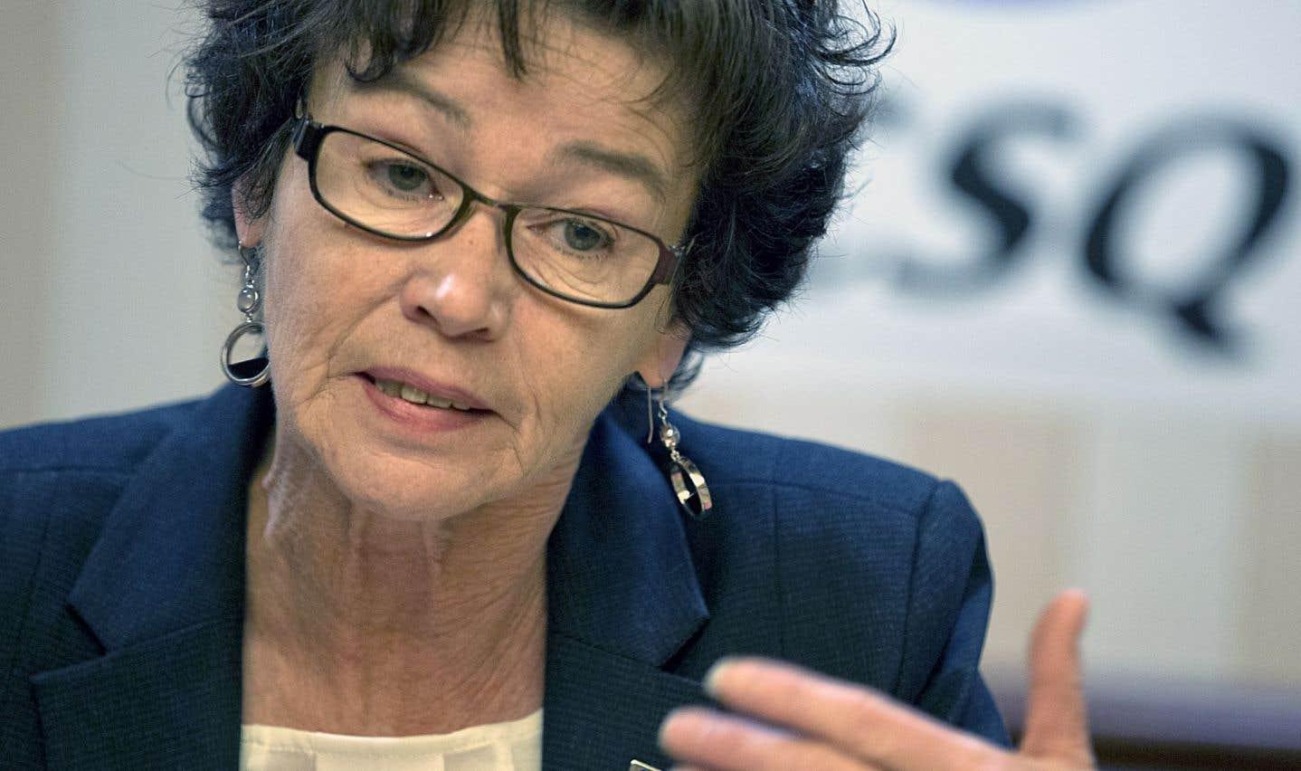 Louise Chabot, la présidente de la CSQ