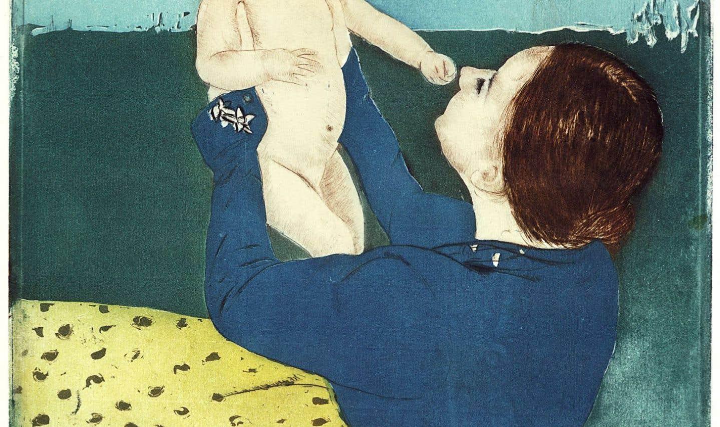 L'œuvre de Mary Stevenson Cassatt, Sous le marronnier, peint vers 1895, fait partie des peintures de l'exposition qui illustrent l'influence du Japon sur les peintres occidentaux.