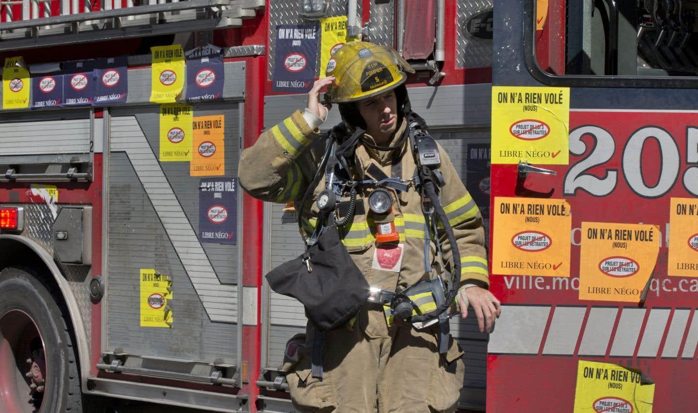 Retraites: les pompiers en cour contre la loi 15
