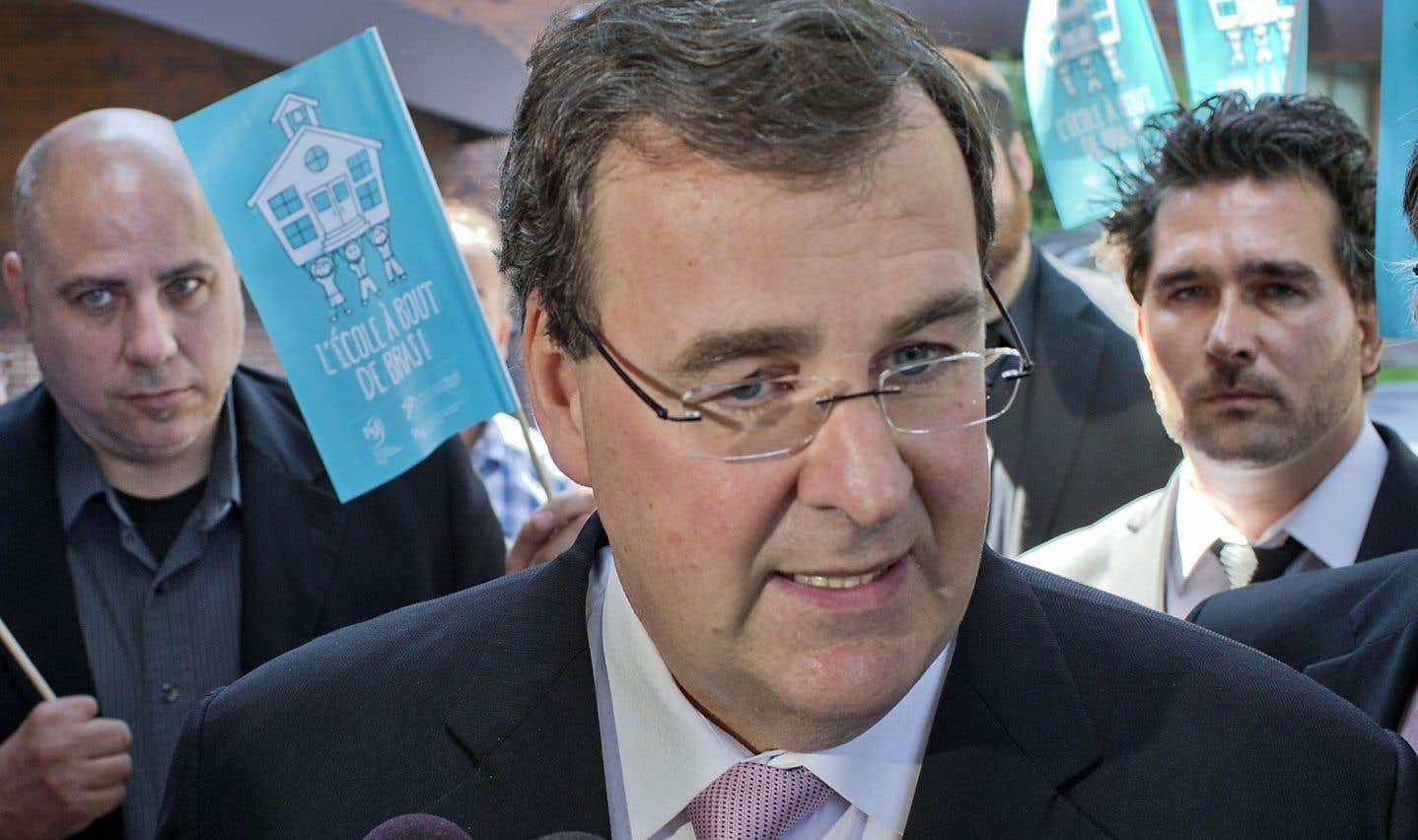 Leministre de l'Éducation, François Blais