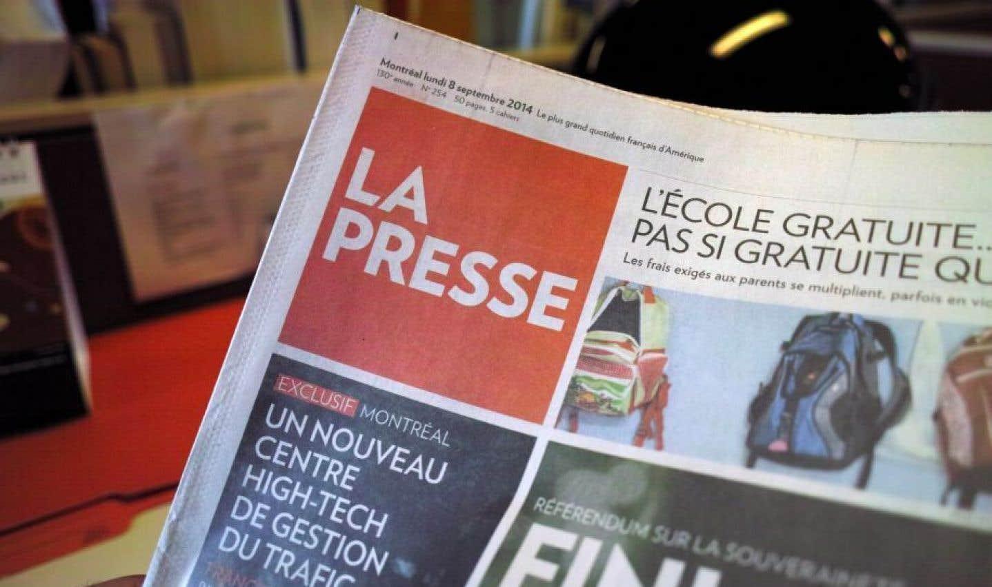 Près de 160 emplois coupés à «La Presse»