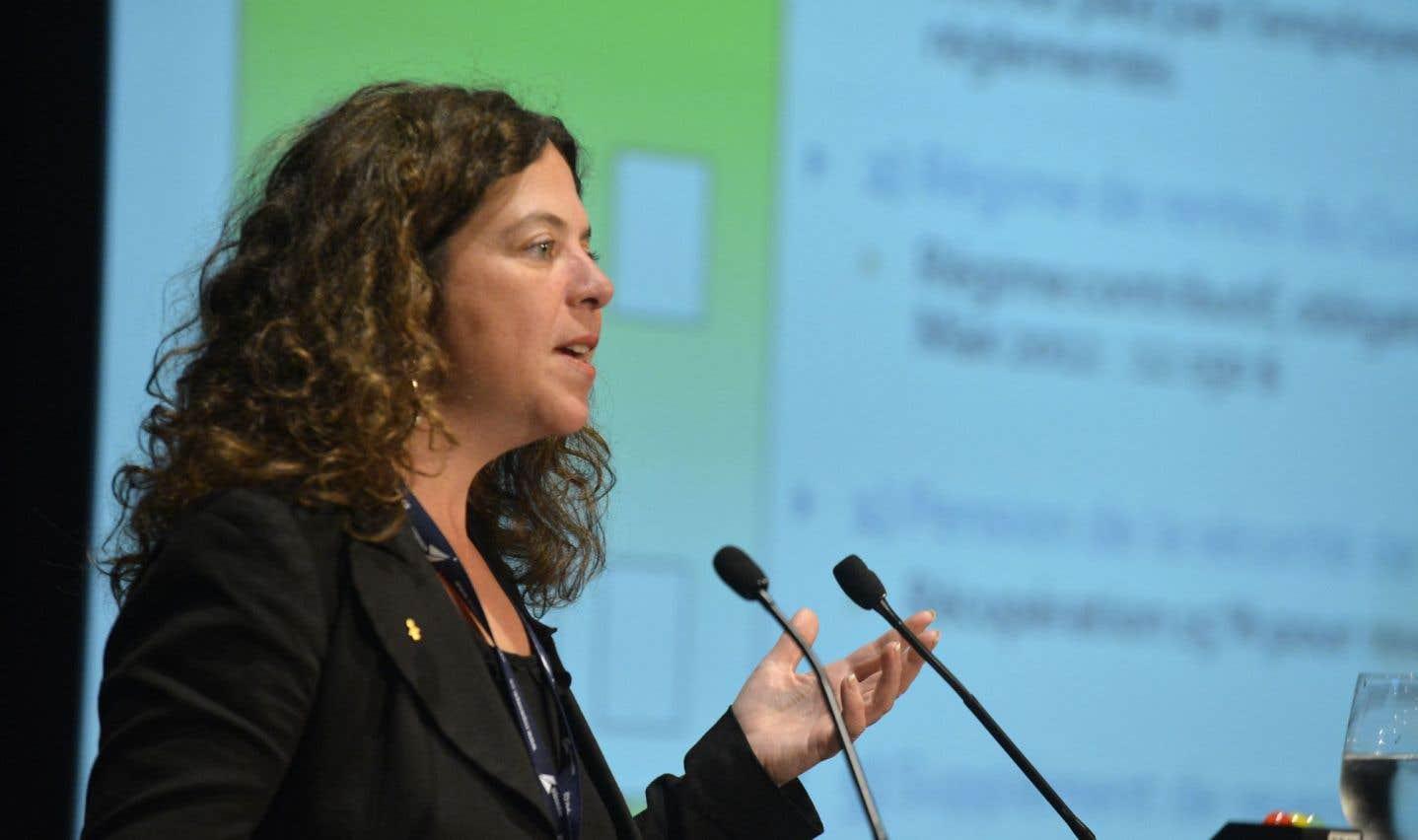 La conseillère au service de l'éducation de la FTQ, Marie-Josée Naud