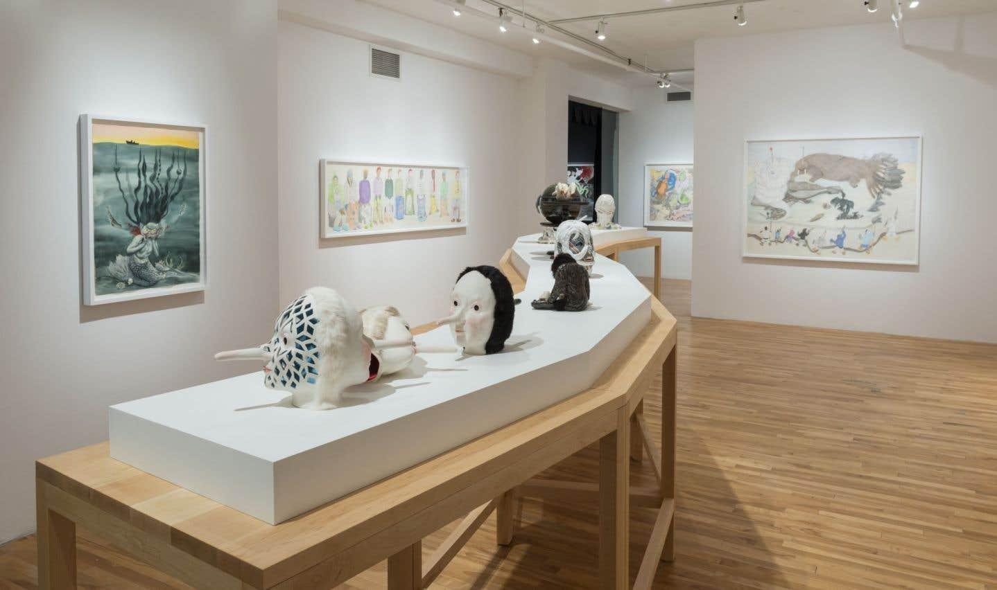 L'exposition qui réunit les oeuvres de Shuvinai Ashoona et de la Torontoise Shary Boyle, fait partie de ces initiatives contribuant à redéfinir les relations Nord-Sud.