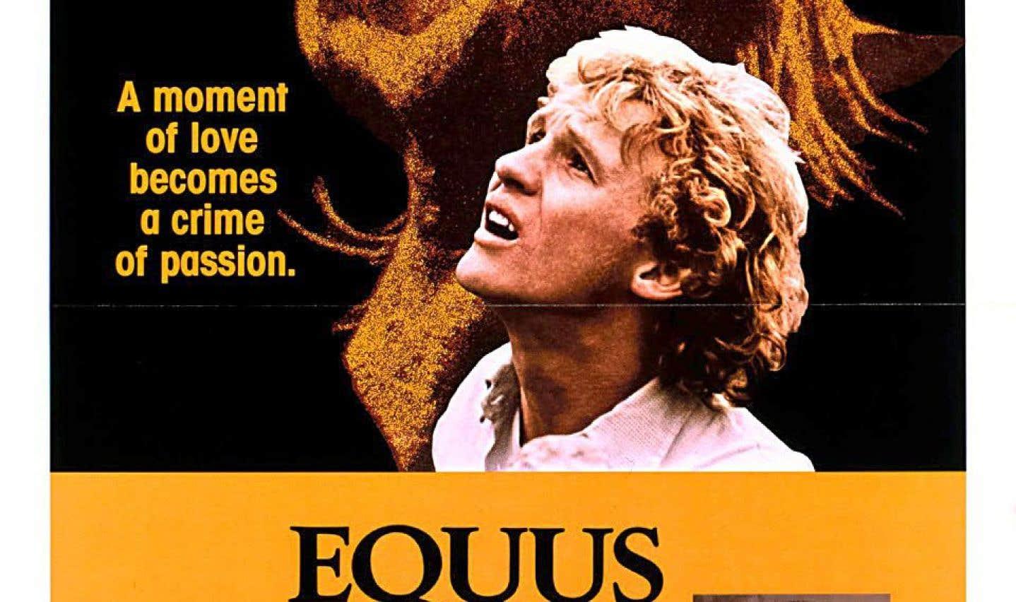 L'affiche du film de Sidney Lumet, «Equus»