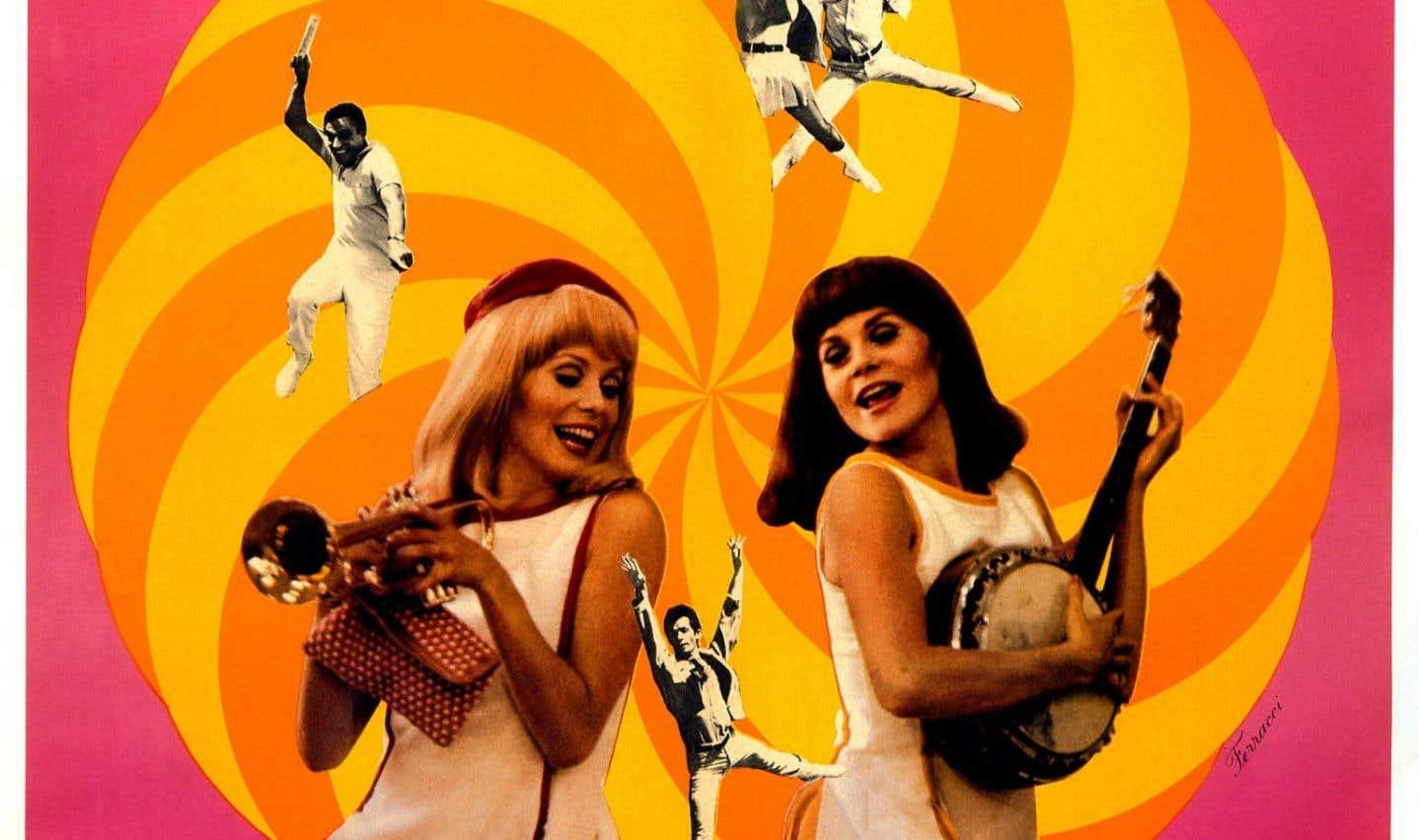 Affiche originale de la comédie musicale «Les demoiselles de Rochefort»