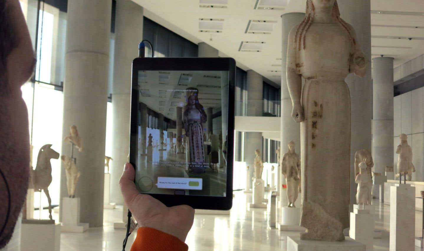 CHESS, un système de création de récit numérique, permet de mettre en scène les expositions proposées par les musées, comme au musée de l'Acropole (en photo) à Athènes, en Grèce.