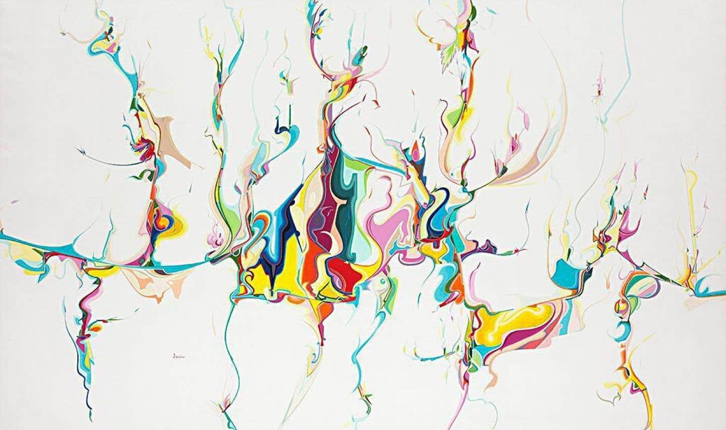 Œuvre d'Alex Janvier, «Sans titre», 1986