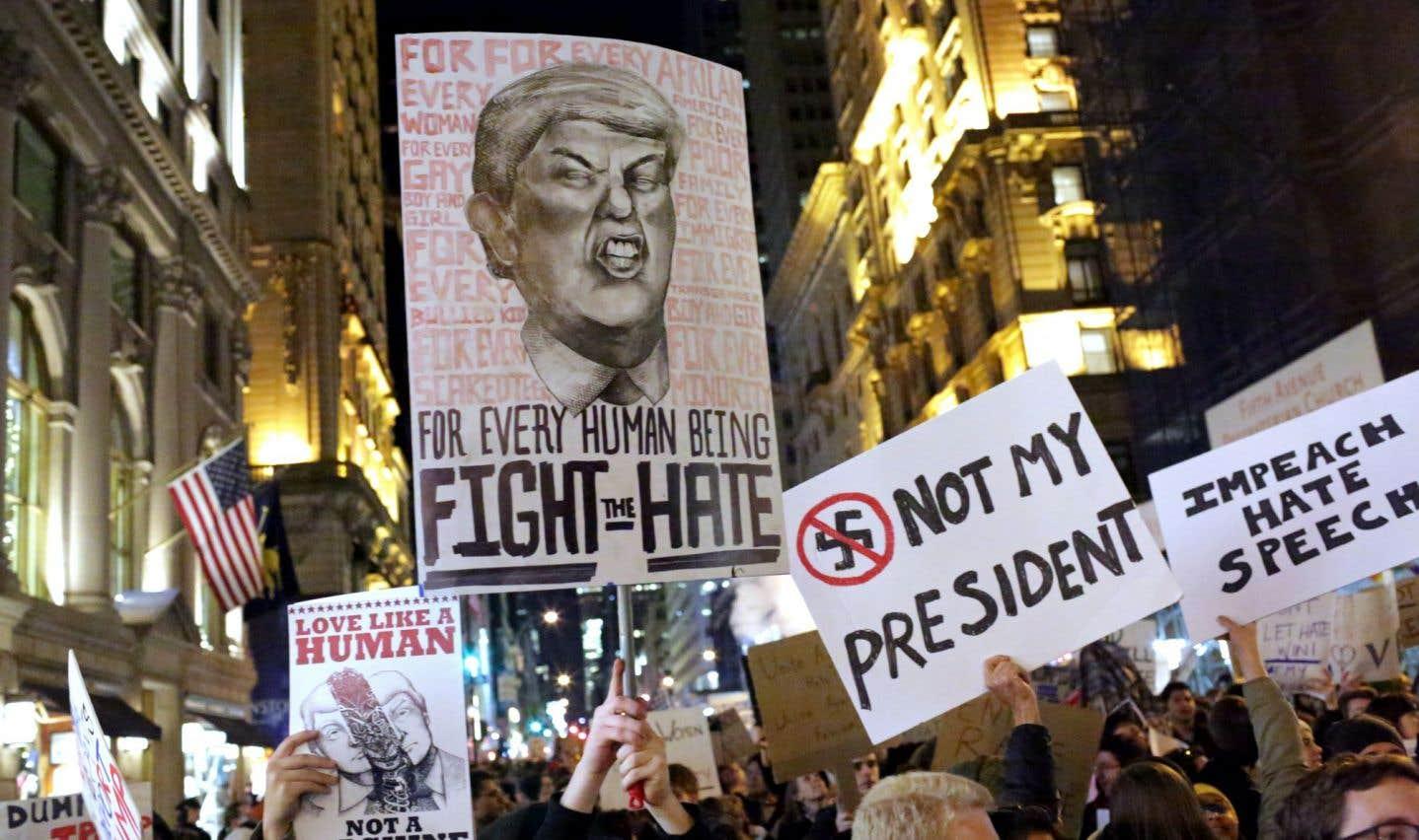 Manifestation anti-Trump, le 12 novembre dernier, à New York