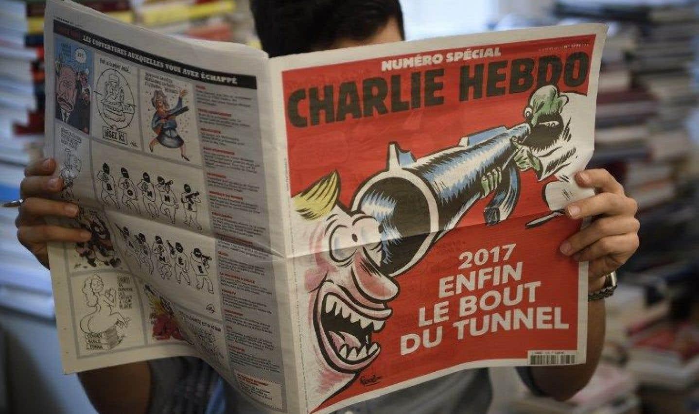 «Charlie Hebdo» reste fidèle à son humour noir