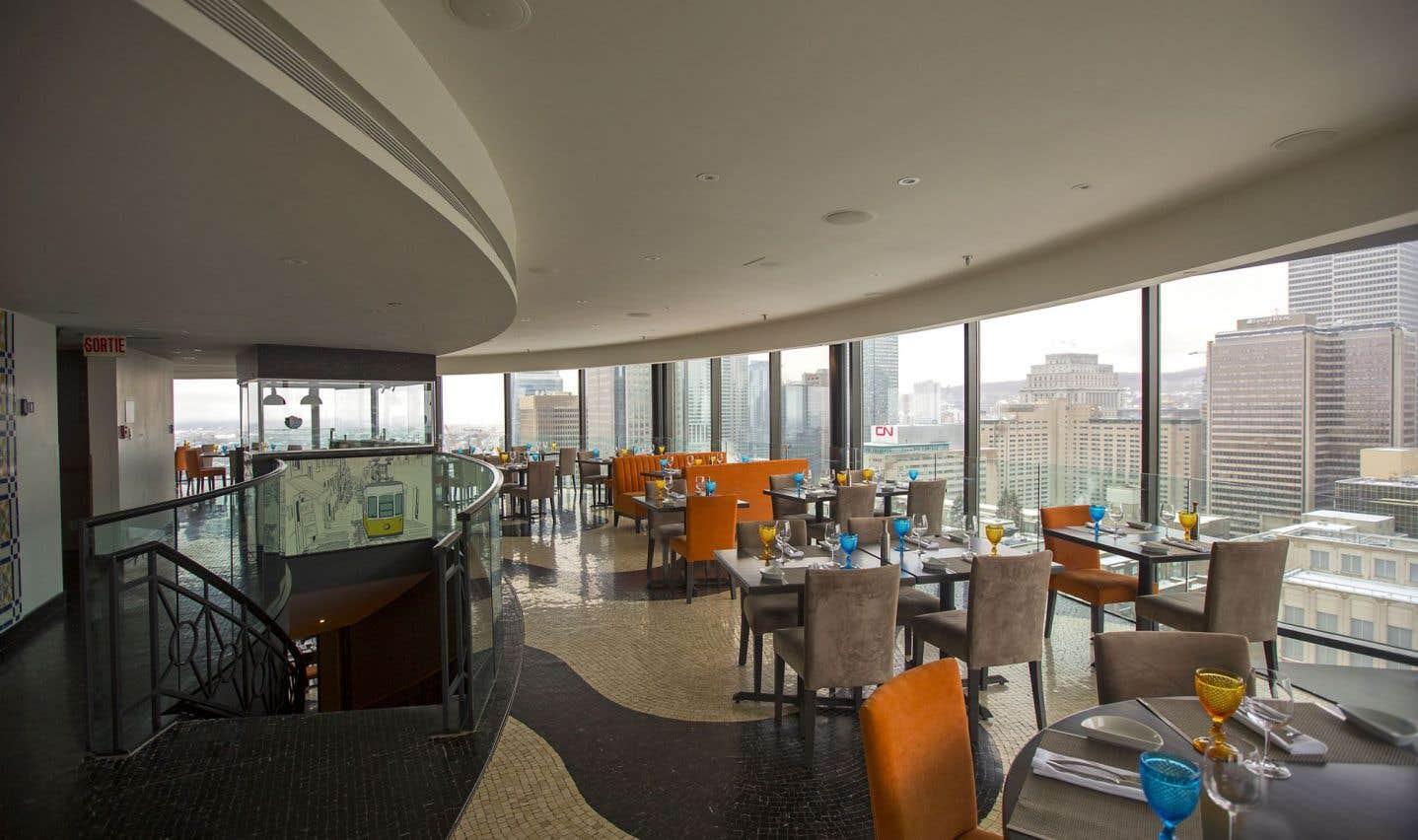 Le Portus 360, au 30e étage, offre une vue panoramique sur Montréal.