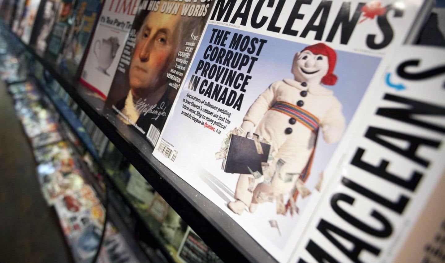 Les élus québécois serrent les coudes devant la dernière salve du «Maclean's»