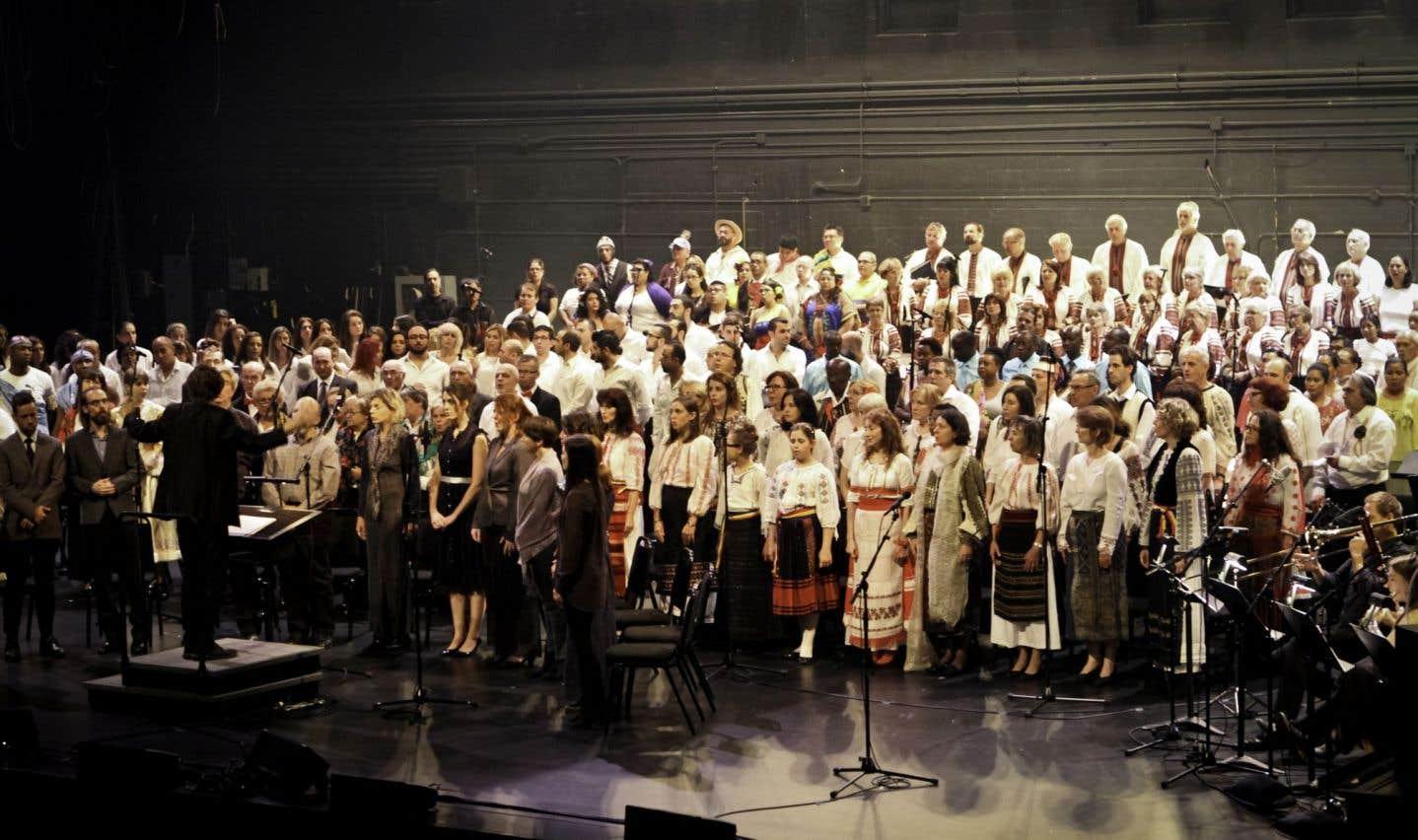 «Souffles – 10 chœurs pour un chant à créer» a été présenté l'an dernier à la salle Wilfrid-Pelletier de la Place des Arts lors des Journées de la culture.