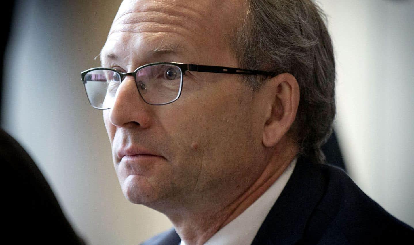 Le ministre des Affaires municipales et de l'Occupation du territoire, Martin Coiteux