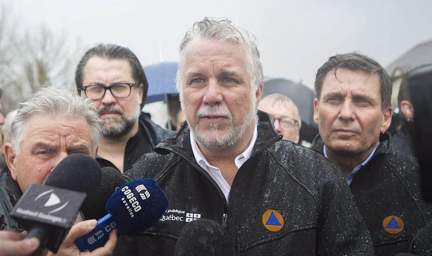 Inondations: le premier ministre Couillard dit être intervenu à temps